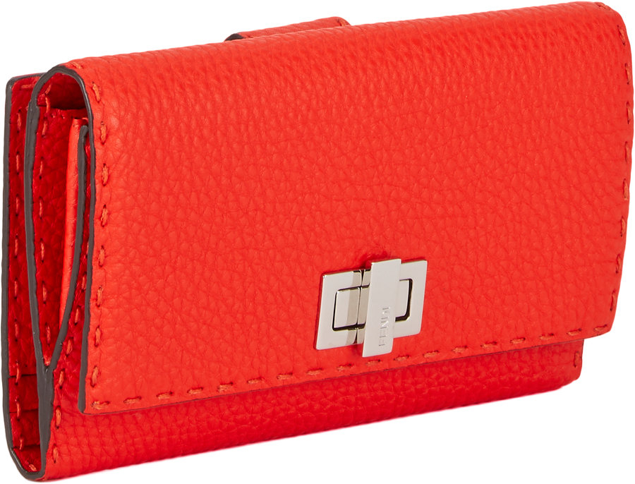 Fendi Red Wallet  e2bb4b319bf98