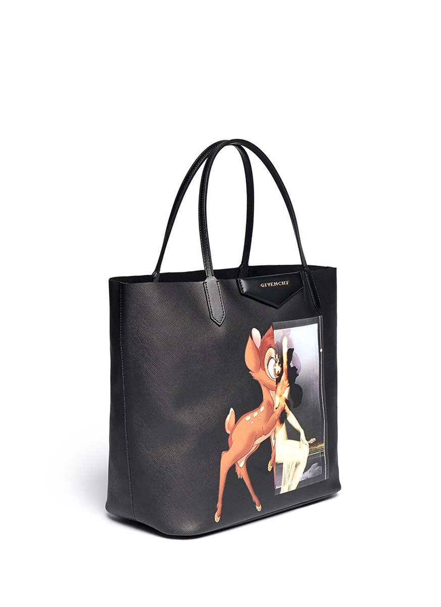 2ed59f1983 Lyst - Givenchy  antigona  Medium Bambi Print Tote in Black