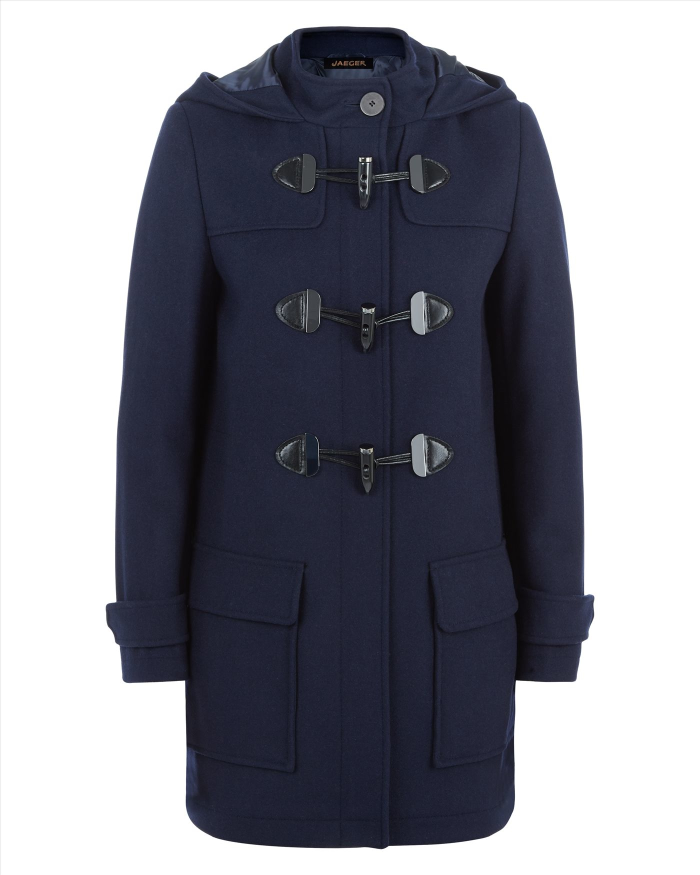 Jaeger Melton Wool Duffle Coat in Blue | Lyst