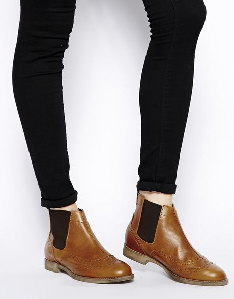 Brogue Boots Office Leather Brogue Ankle Boots
