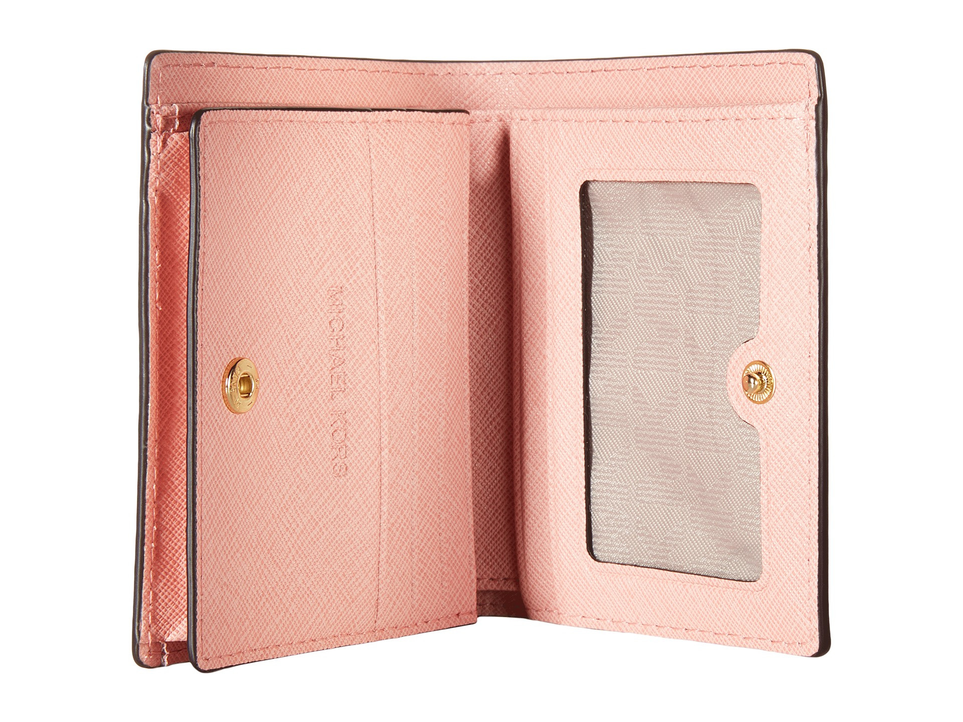 bb50b818185e MICHAEL Michael Kors Jet Set Travel Flap Card Holder in Pink - Lyst
