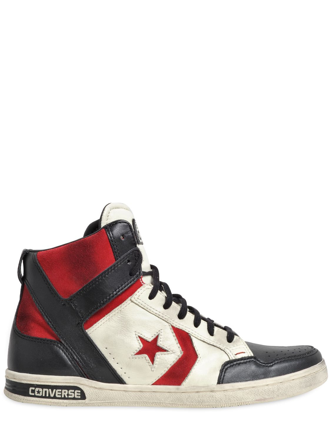 f4a7d0cfe78b Converse Weapon Leather High Top Sneakers in White for Men - Lyst