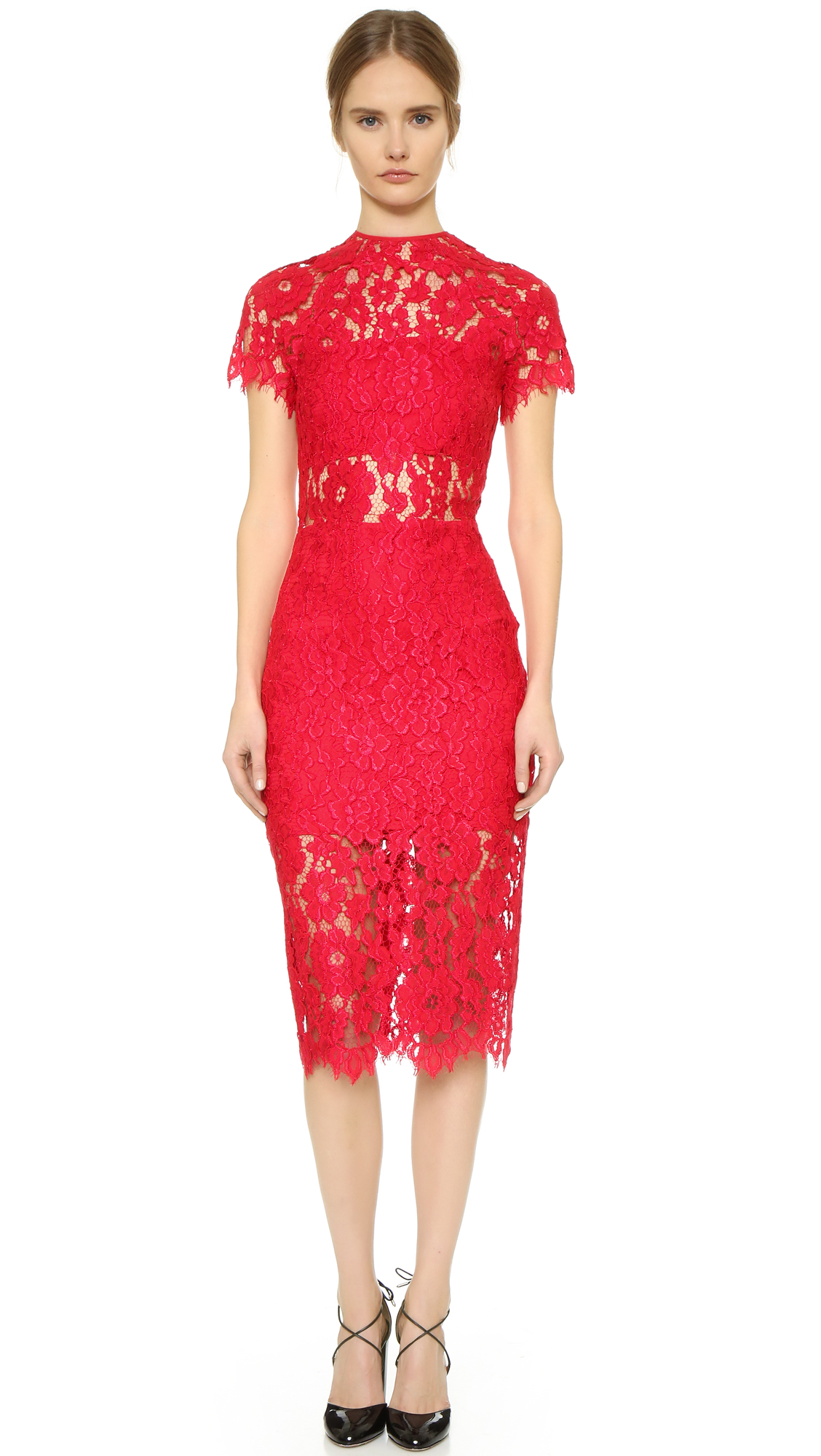 Alexis Leona Lace Dress - Red in Red - Lyst