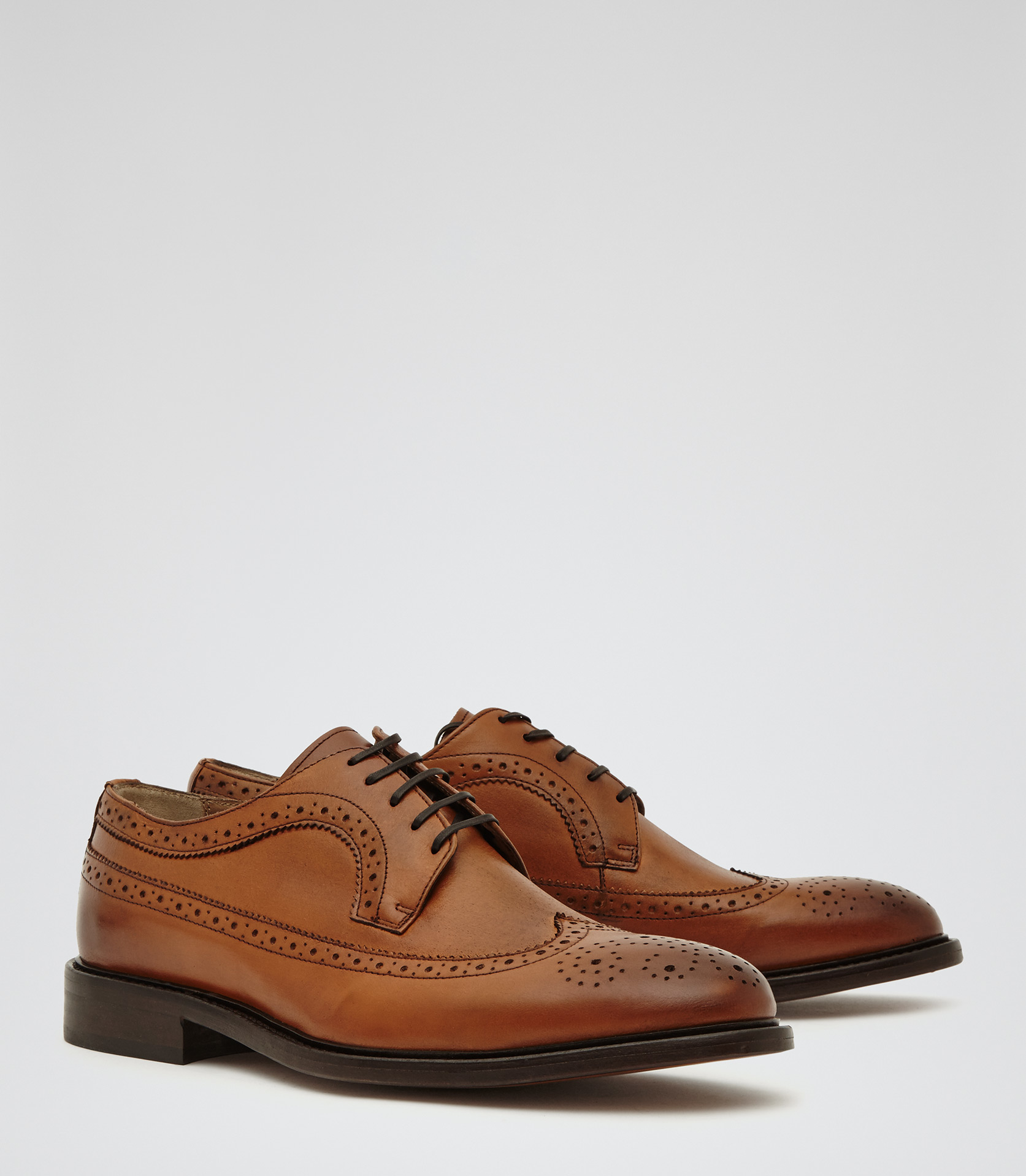 06681c58e3fb Lyst - Reiss Ash Longwing Leather Brogues in Brown for Men