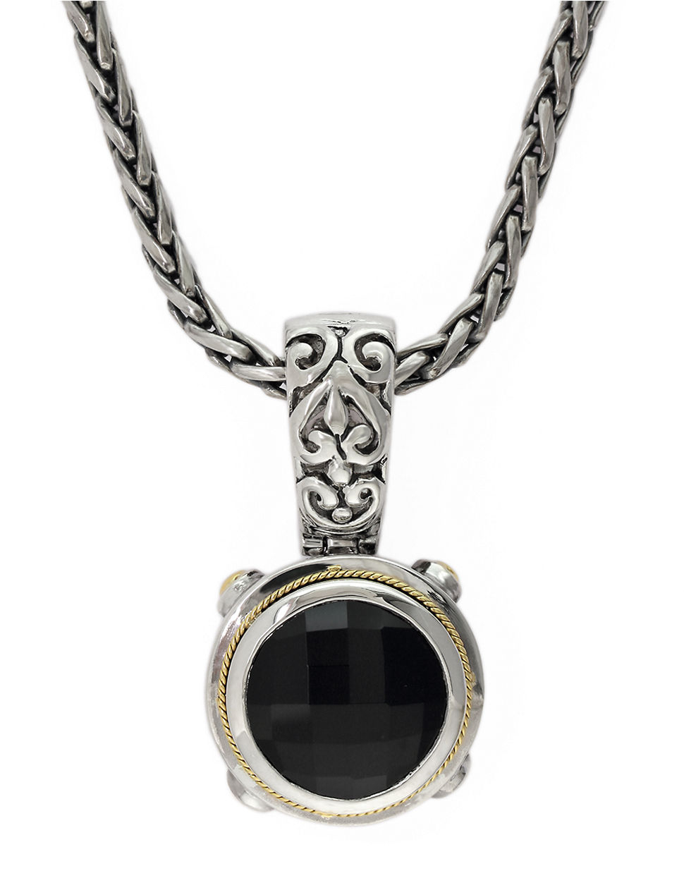 effy balissima 18k yellow gold and sterling silver onyx