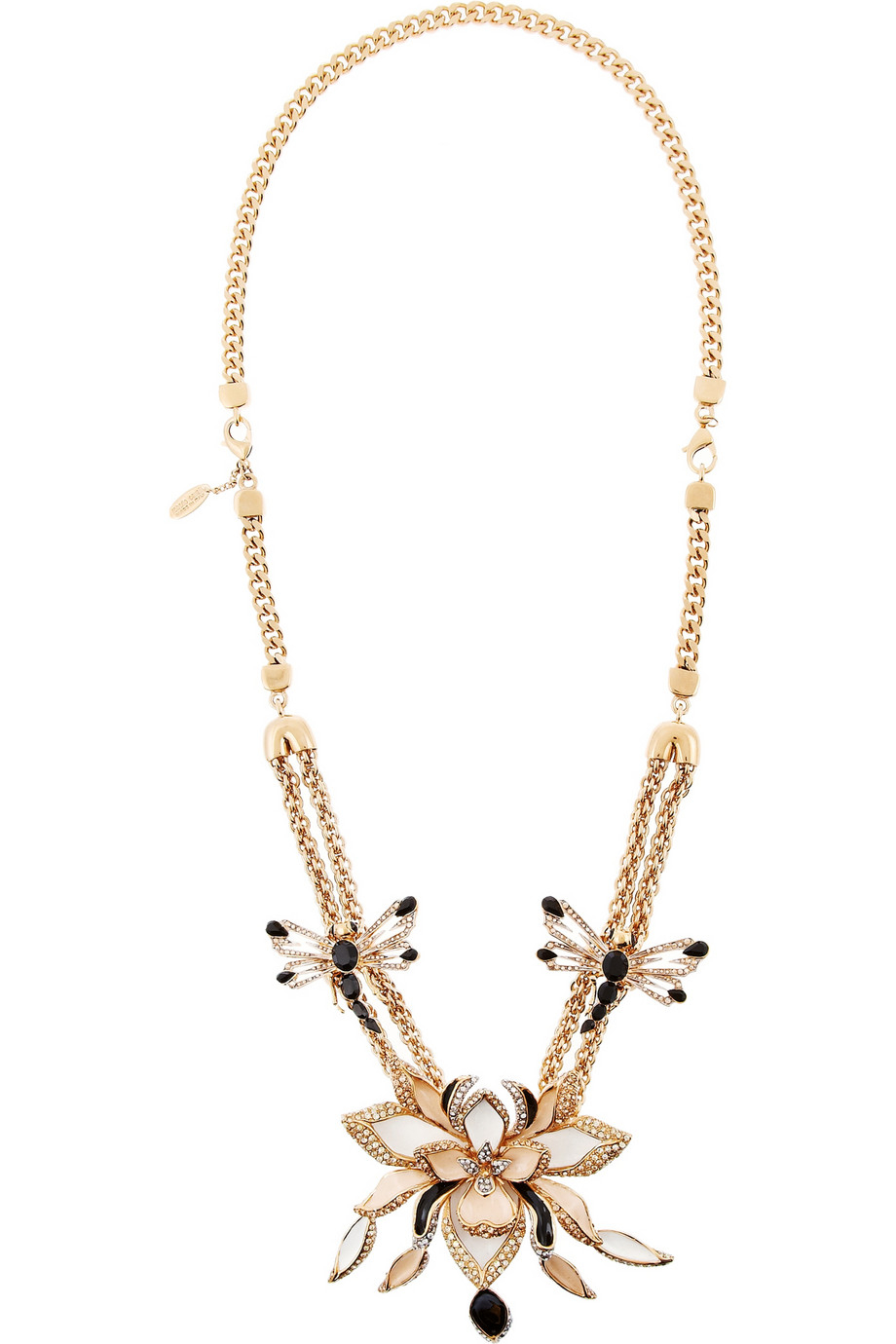Lyst Roberto Cavalli Lotus Flower Gold Plated Enamel And