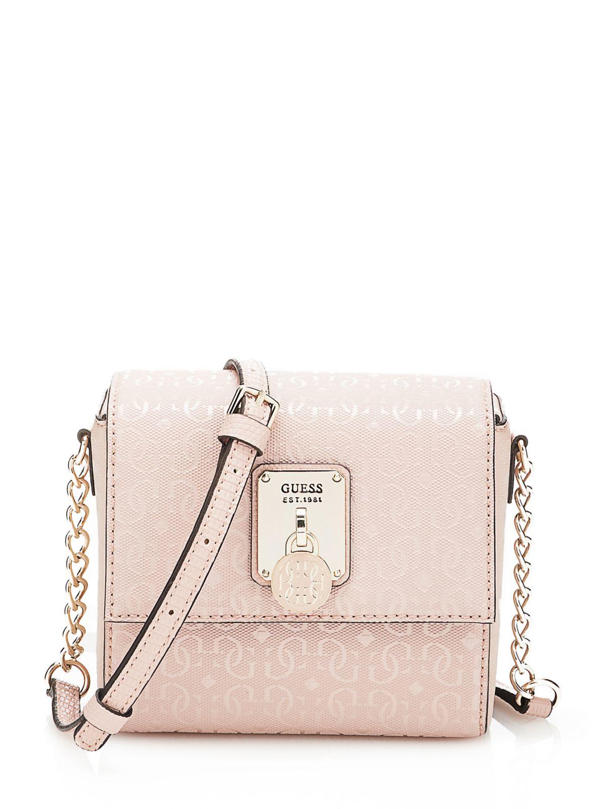 Guess Crossbody Tassen : Guess rosalind mini crossbody bag in pink lyst