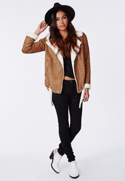 Brown Shearling Jacket | Outdoor Jacket