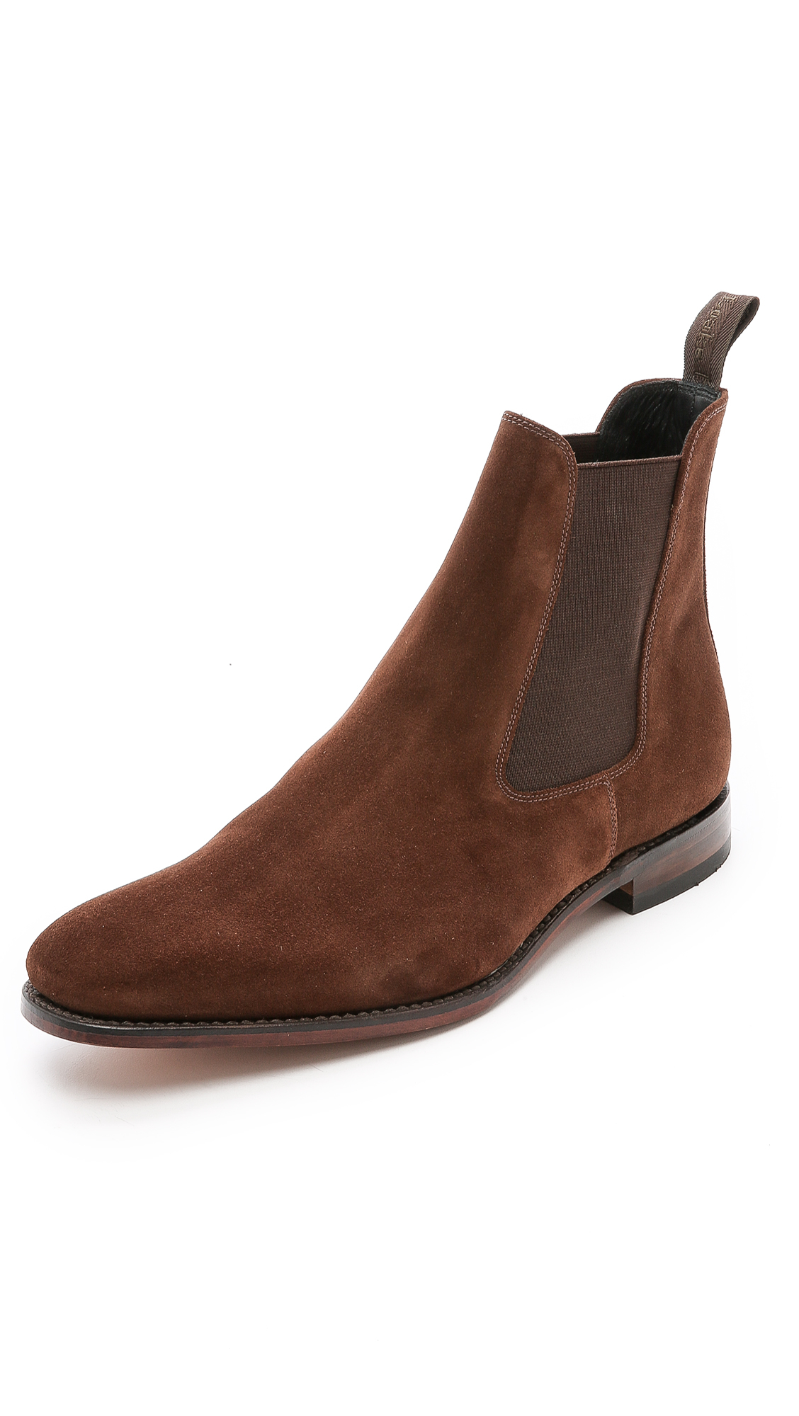loake mitchum suede chelsea boots in brown for lyst