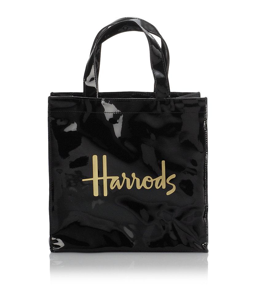 Lyst Harrods Small Signature Shopper Bag In Black