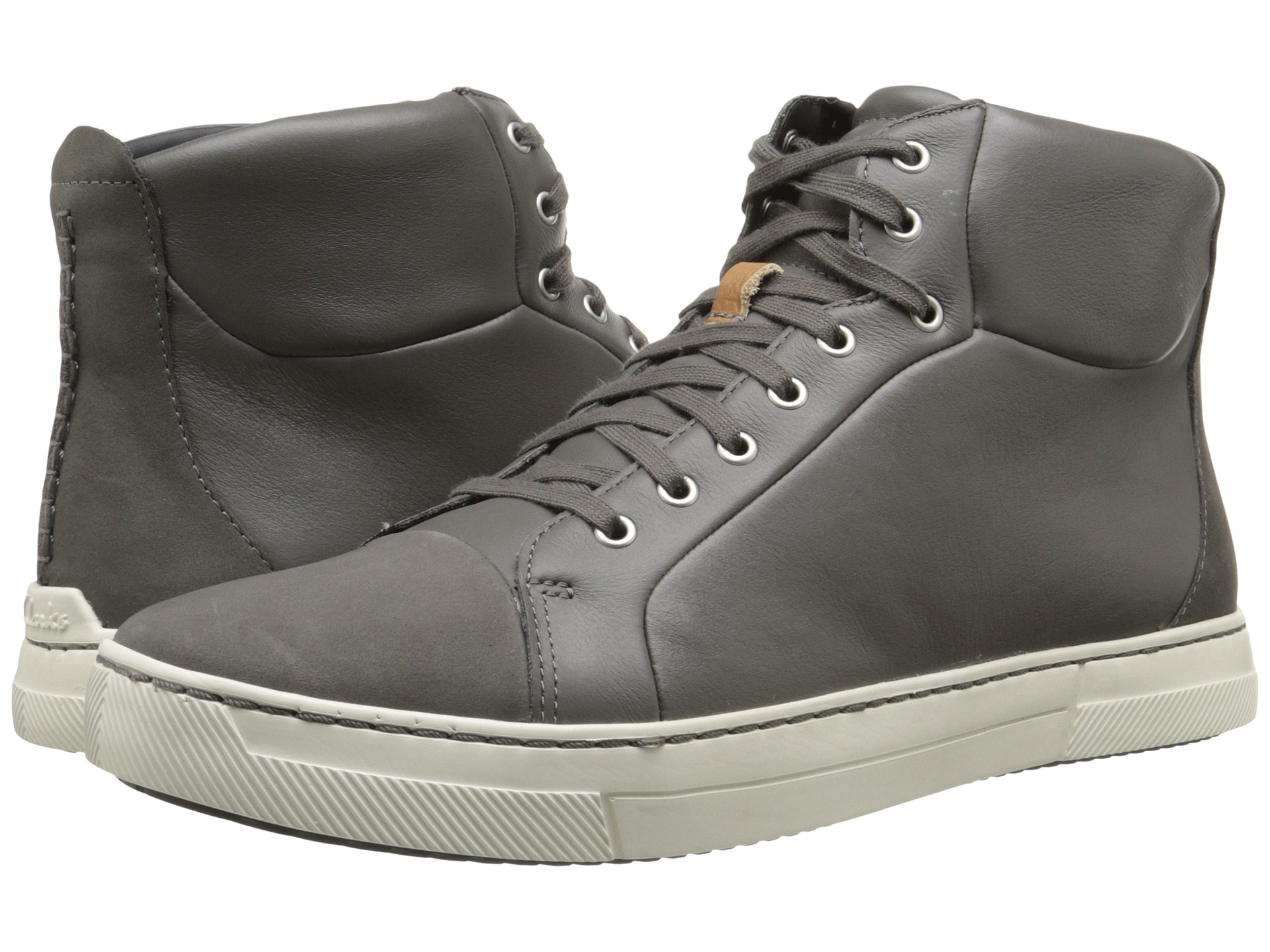 Clarks Ballof Hi- Grey Leather sneakers