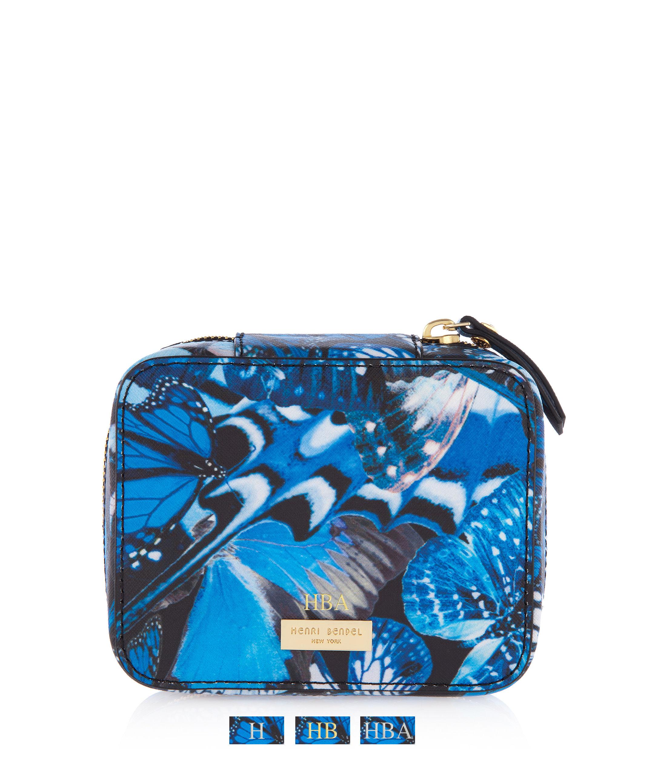 Henri bendel west 57th travel jewelry box in blue lyst for Tj maxx jewelry box