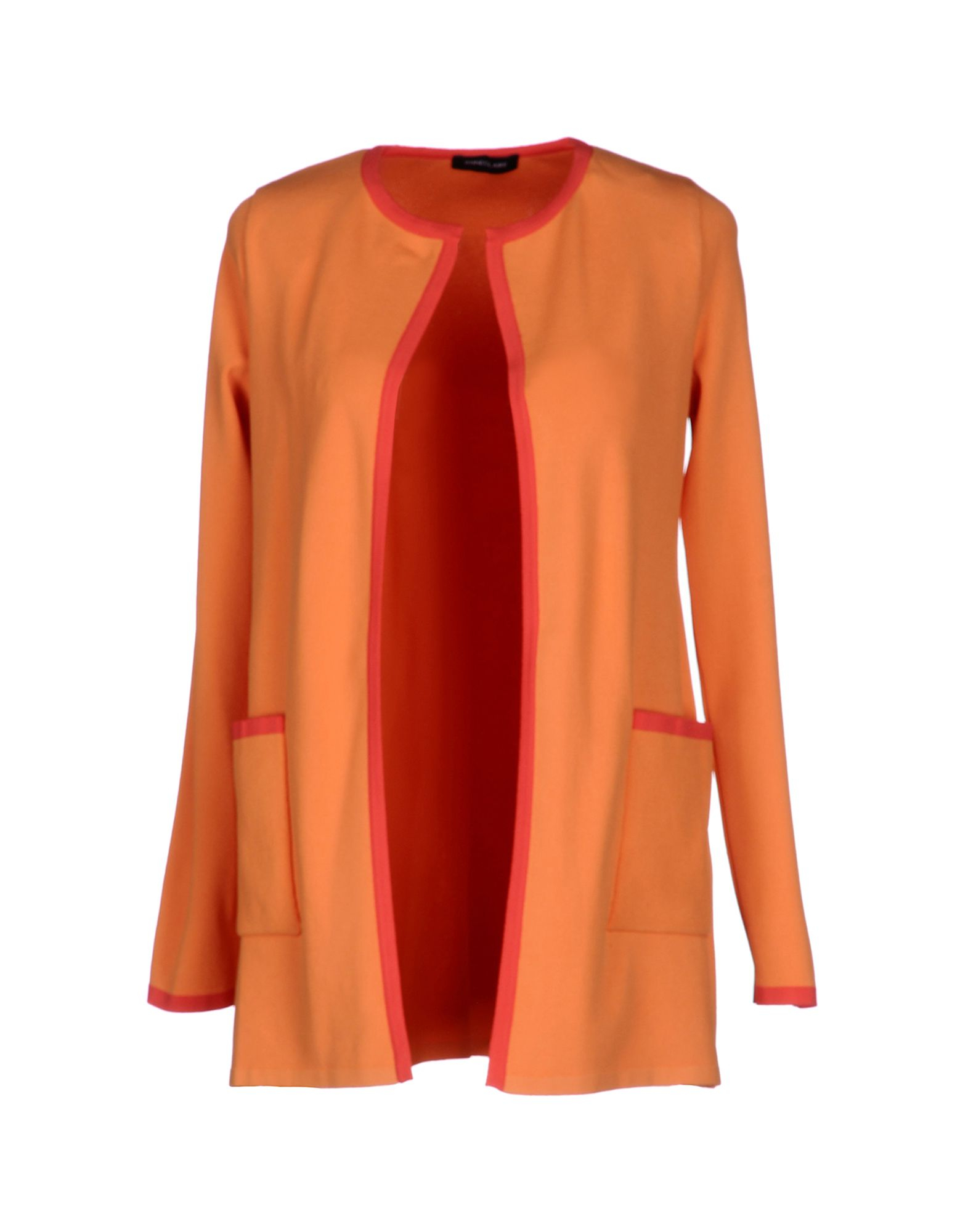 Cute fall outfit in Orange, navy and white Find this Pin and more on Dressing for fall/winter by Evelyn Vergos. Love the color combo jeans, white tee, long orange cardigan, black and white scarf.