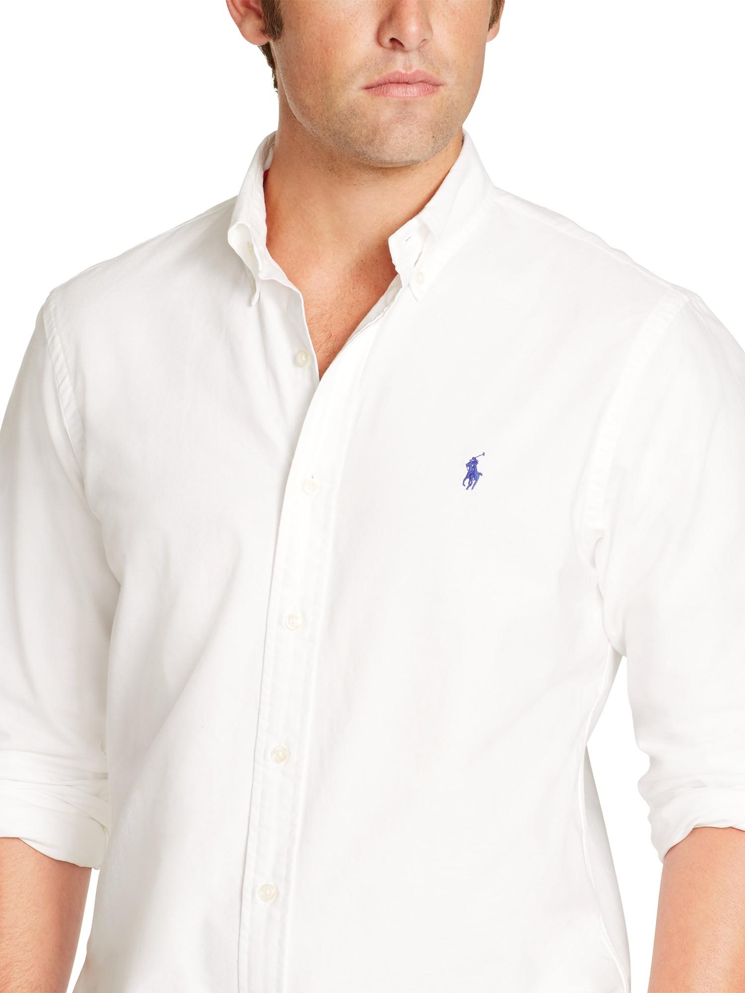 fec9e5975fc2f Polo Ralph Lauren Slim Fit Oxford Shirt in White for Men - Lyst