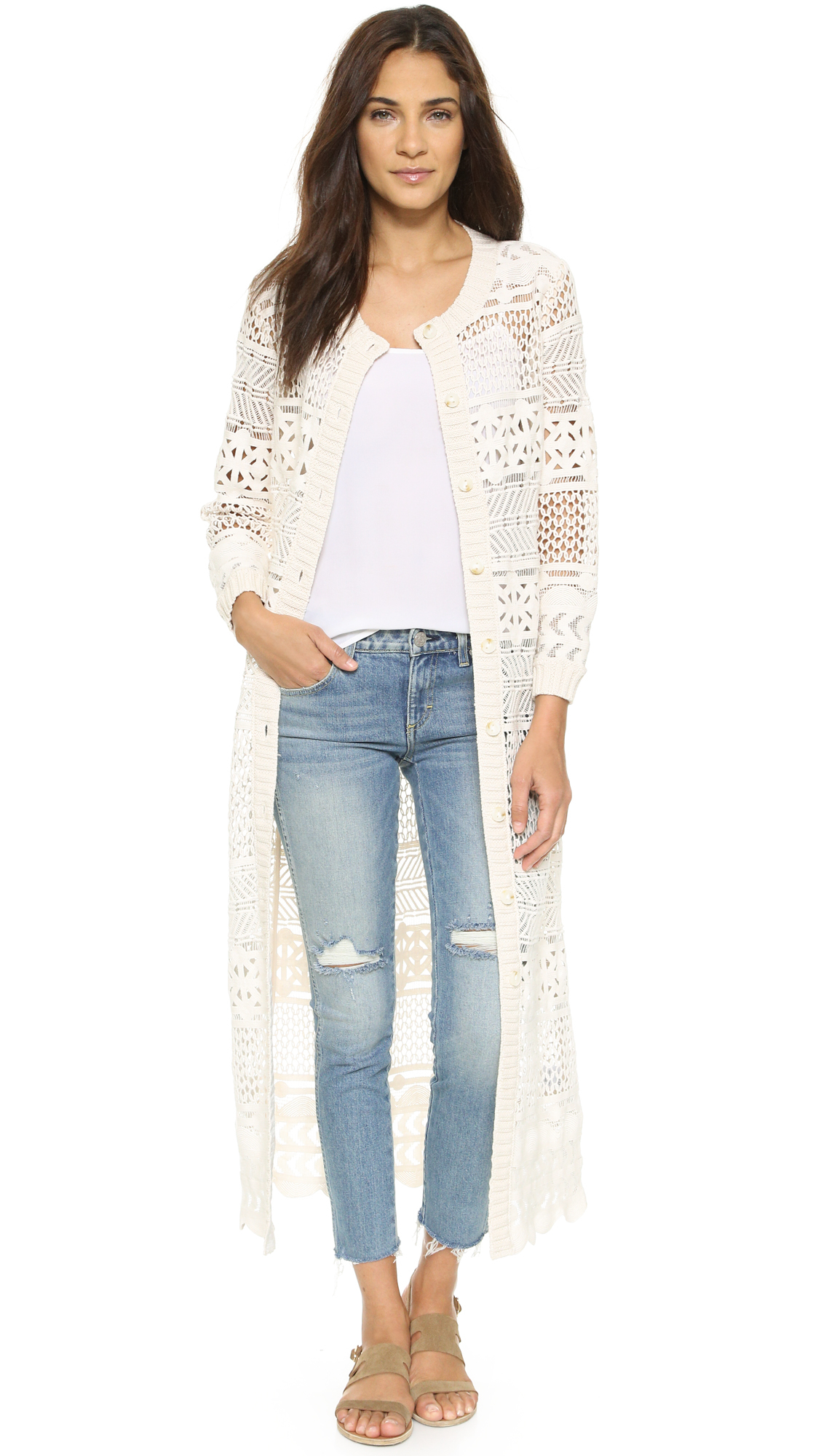 Long lace cardigan - Gallery