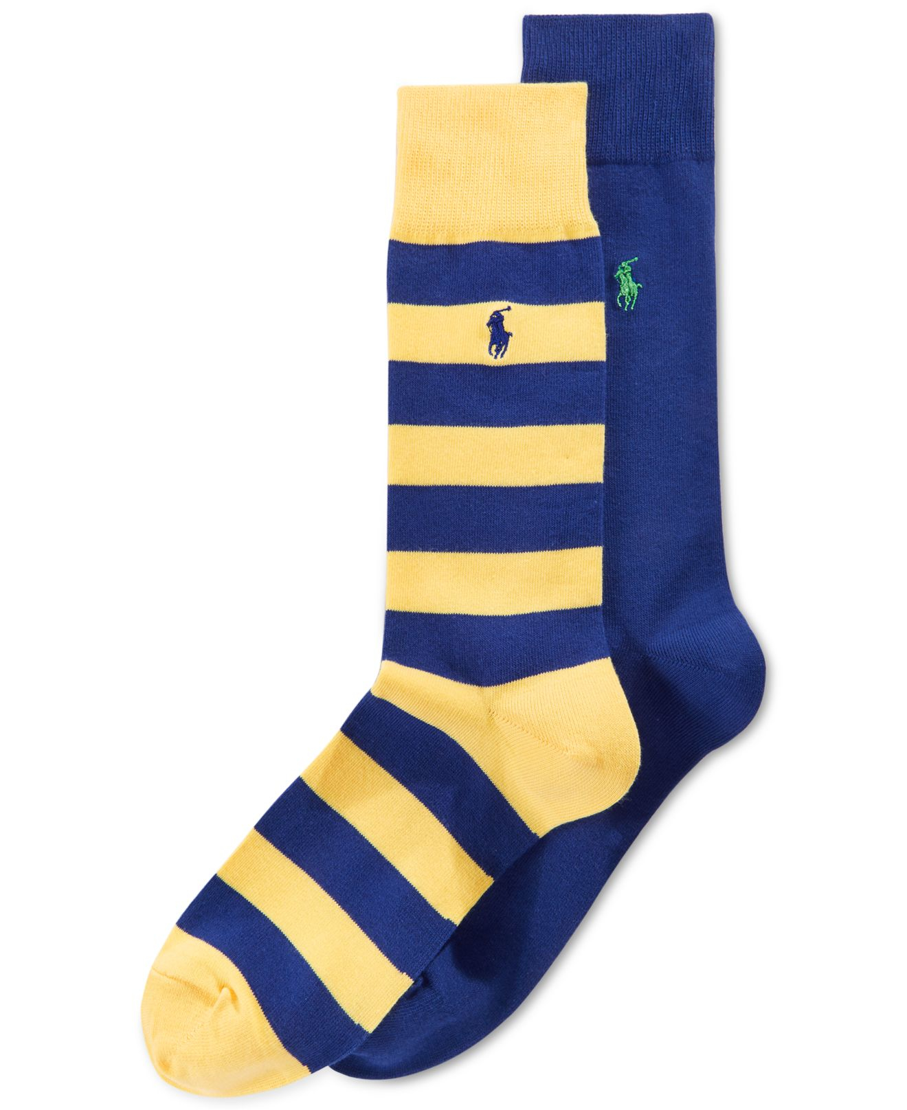 Lyst Polo Ralph Lauren Cotton Rugby Dress Socks 2 Pack in Blue for Men