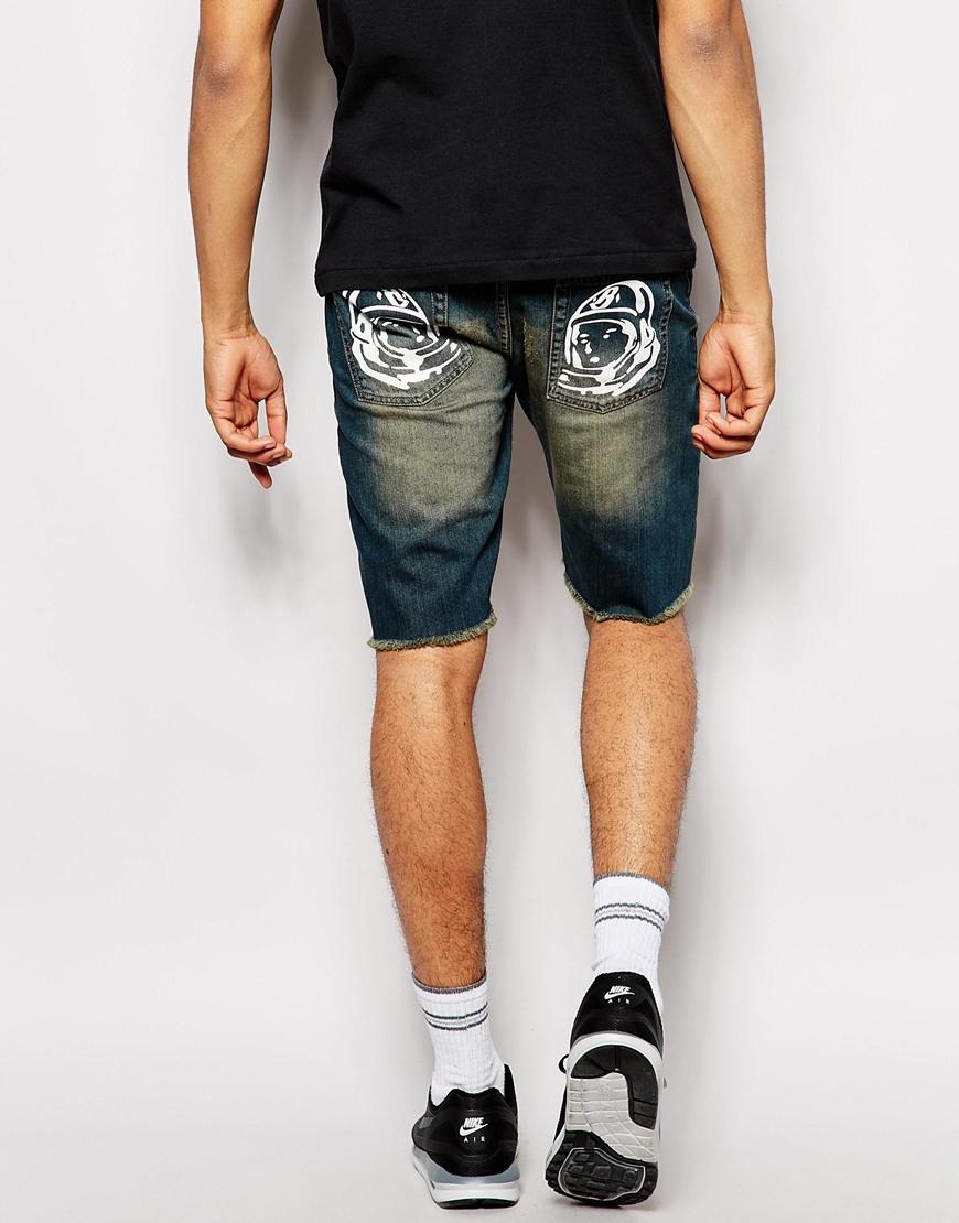 Billionaire boys club - ice cream Denim Shorts With Pocket Print ...
