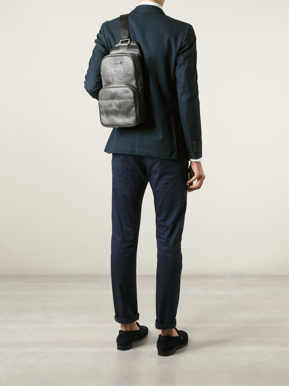 b5602b413d76 ... coupon code for lyst michael kors camouflage pattern backpack in gray  for men 56bc6 adcbd