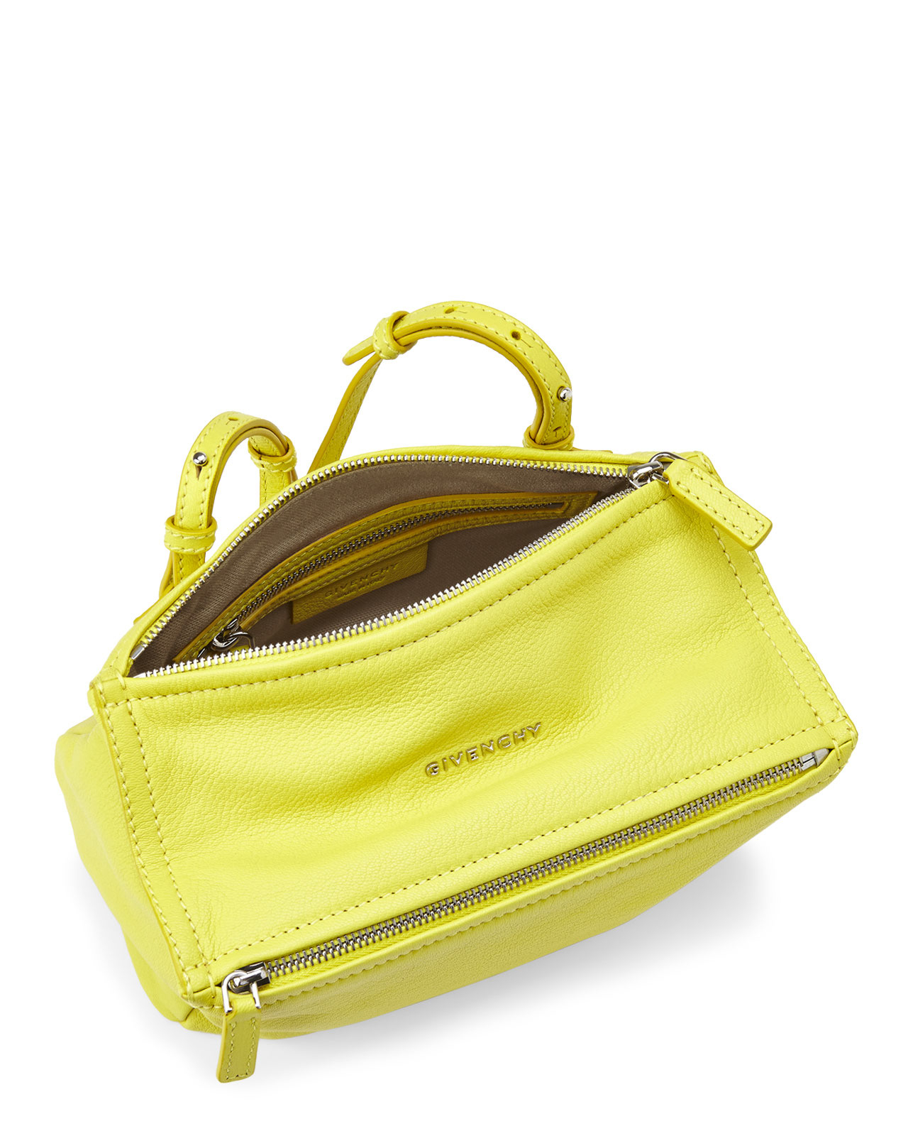 Lyst - Givenchy Yellow Pandora Mini Shoulder Bag in Yellow 6a9bcd7a0866d
