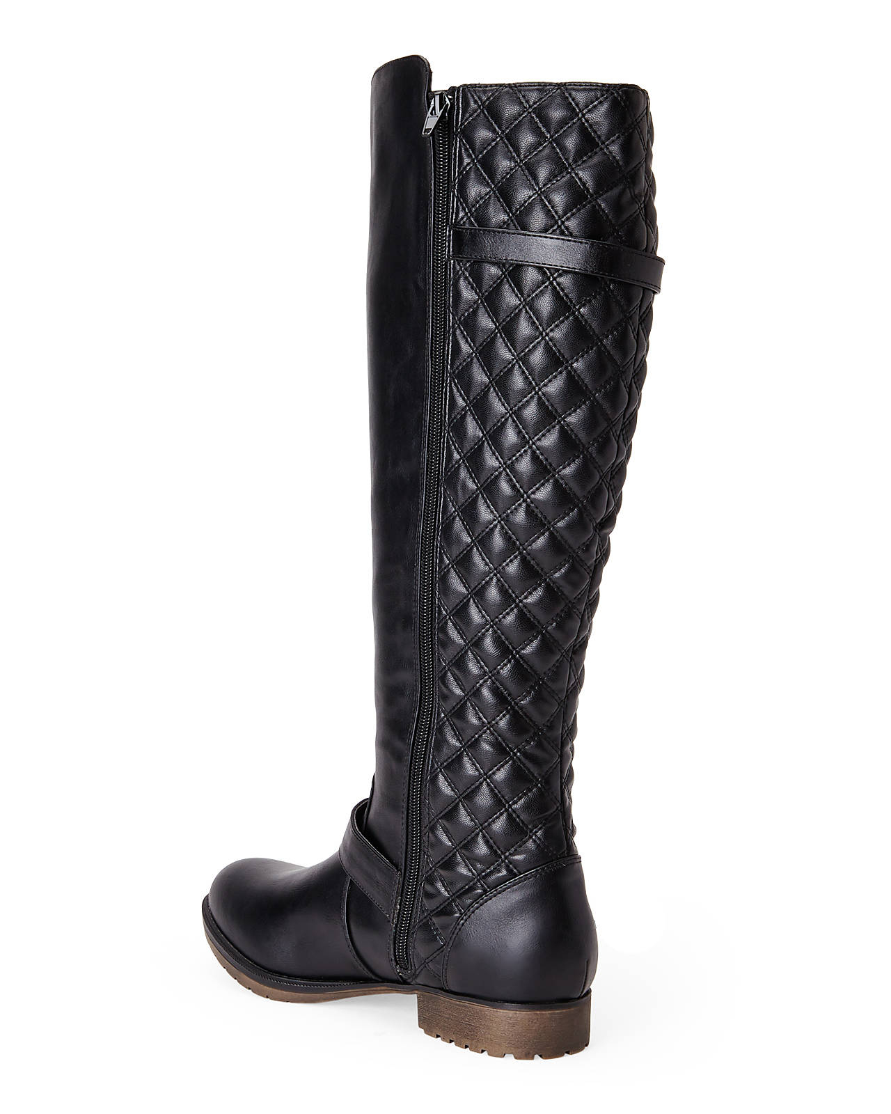 Steve madden Black Quilted Riding Boots in Black   Lyst
