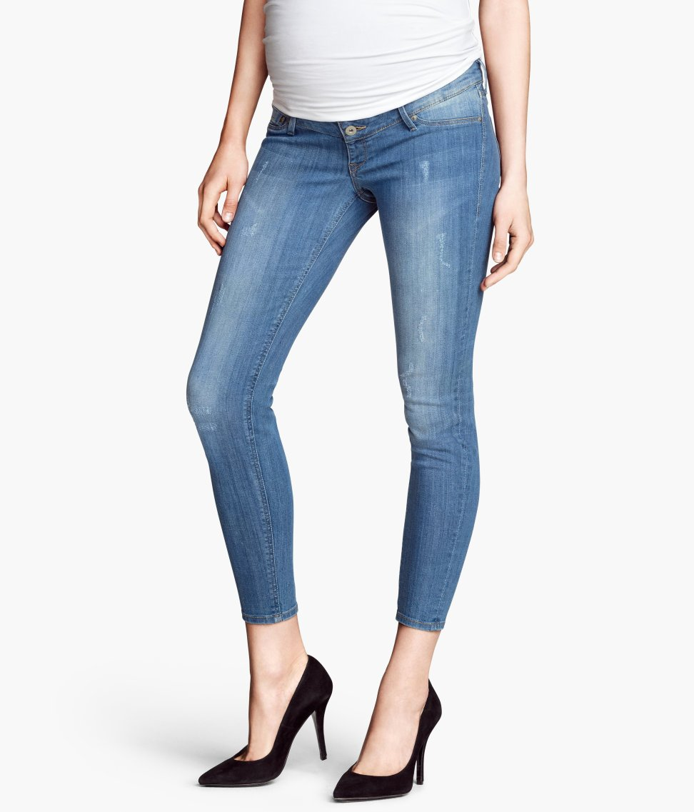 H&m Mama Skinny Ankle Jeans in Blue | Lyst
