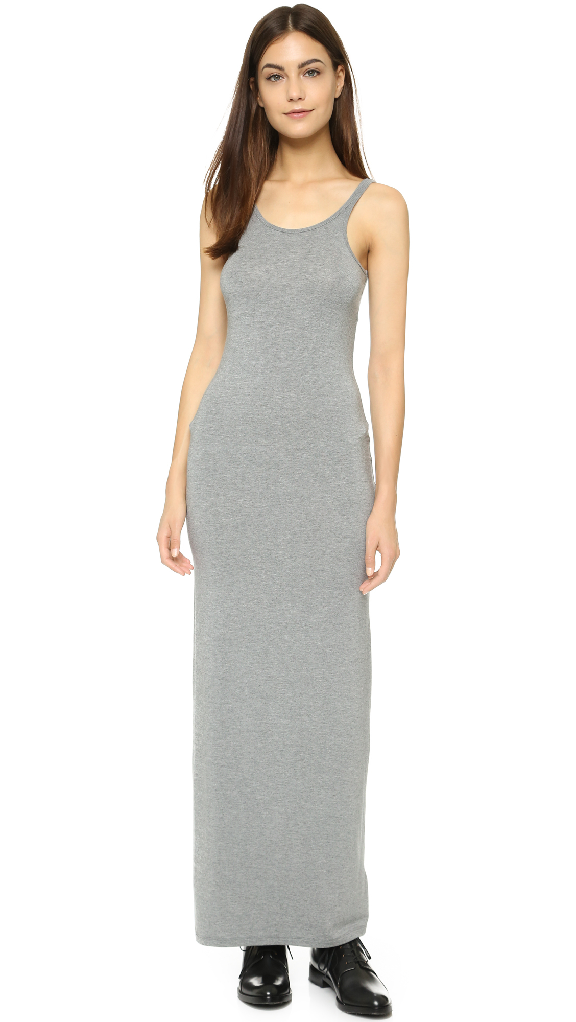 6b217b28459 Gray Tank Maxi Dress – Fashion dresses