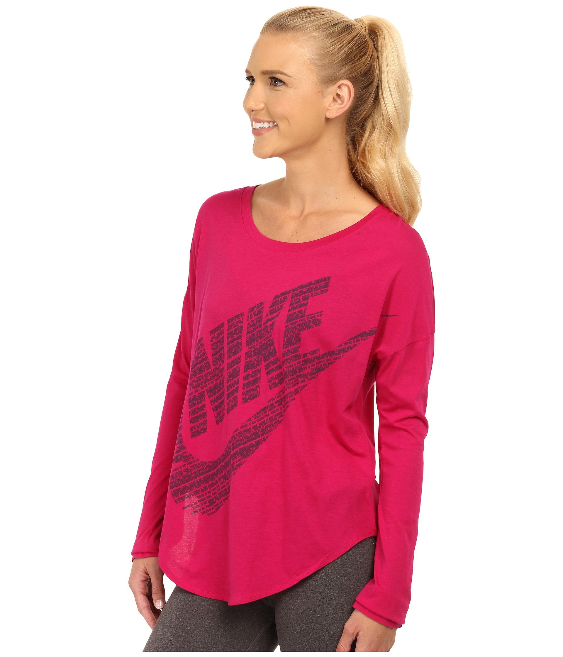 eec49966 Nike Signal Long Sleeve Tee in Pink - Lyst