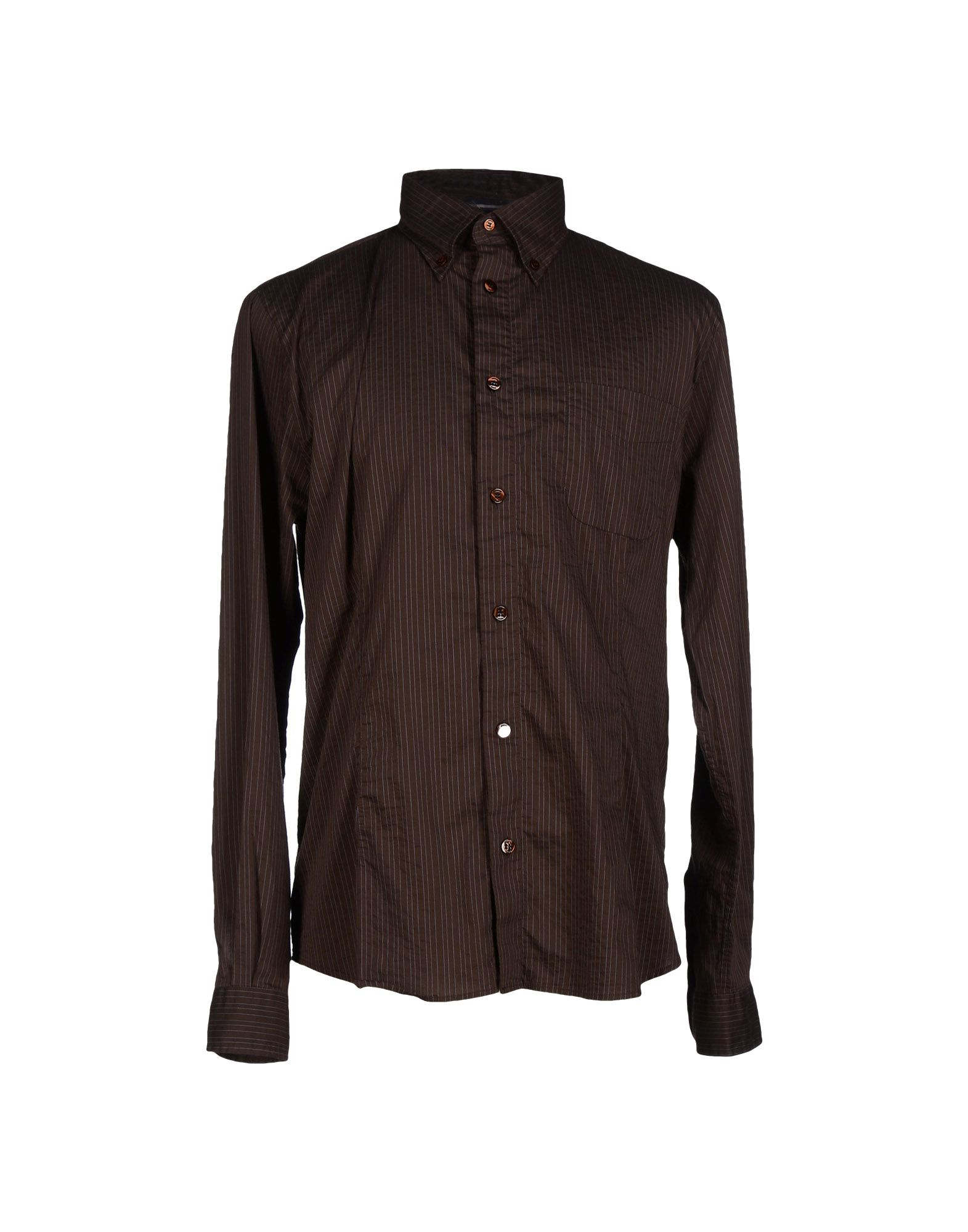 armani shirt in brown for lyst