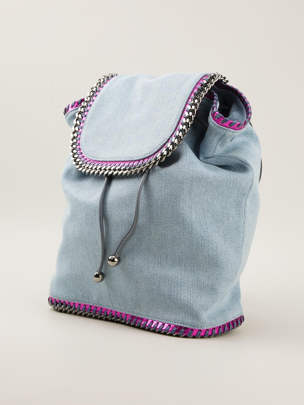 lyst stella mccartney falabella backpack in blue. Black Bedroom Furniture Sets. Home Design Ideas