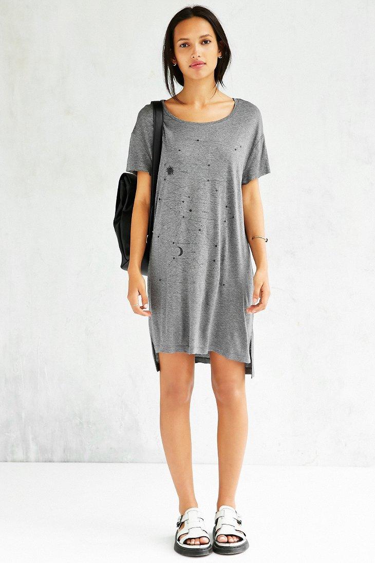 Lyst Project Social T Solar Boyfriend T Shirt Dress In Gray