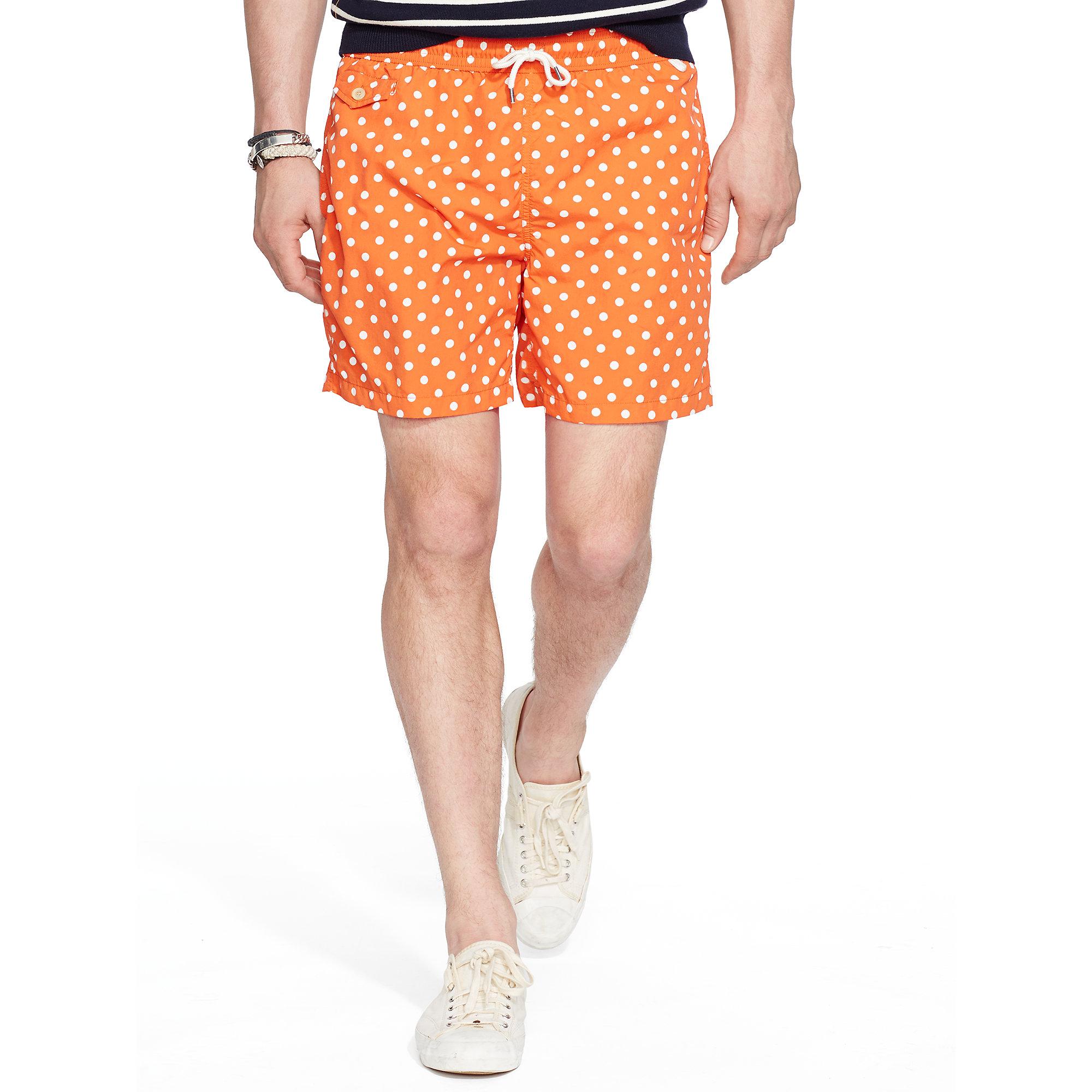 6a934118f412 cheapest ralph lauren mens shorts polo richardclason a1403 ca3c7  promo  code for lyst polo ralph lauren 6 polka dot traveler trunk in orange for men