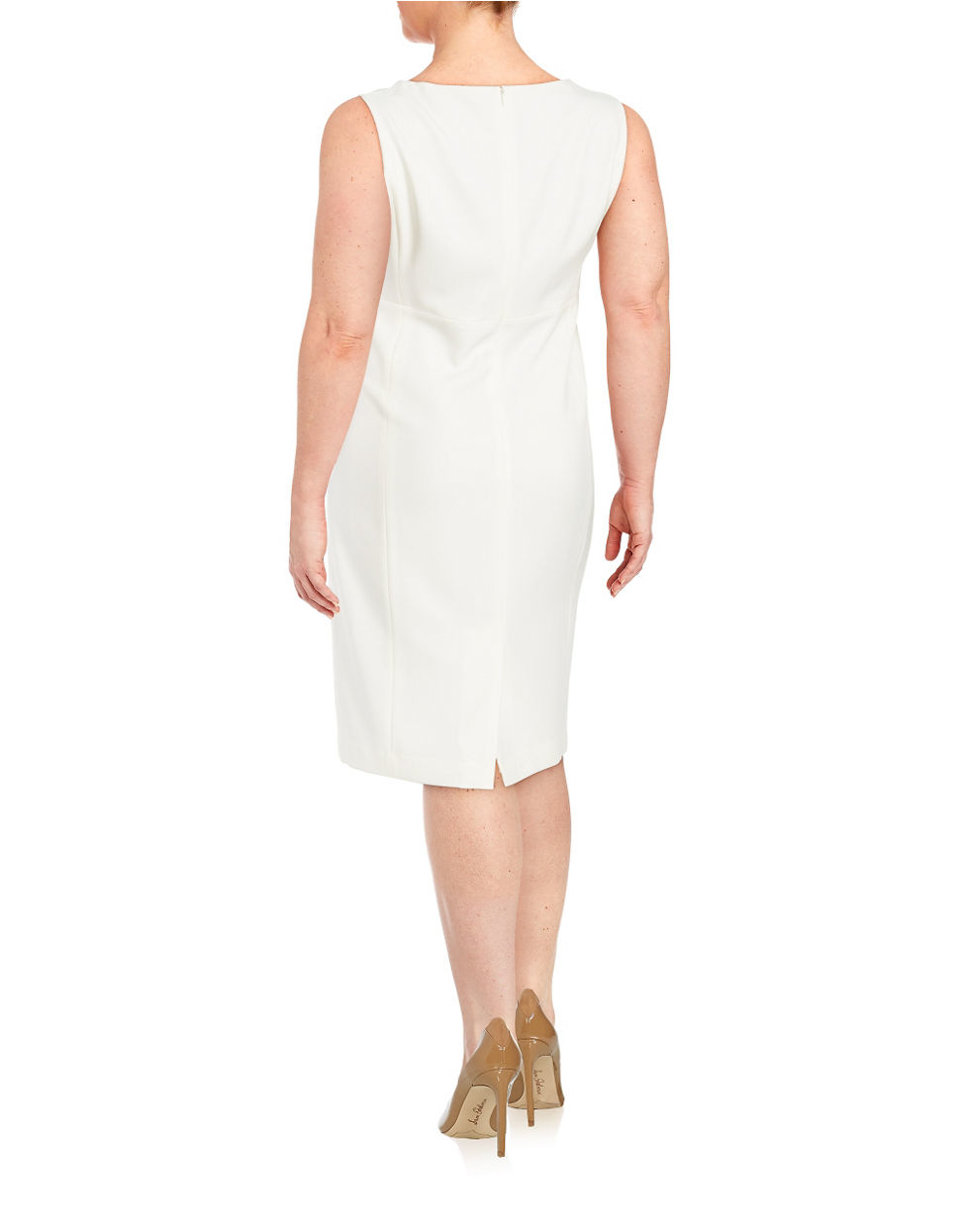 Lyst Nipon Boutique Plus Crepe Sheath Dress In White