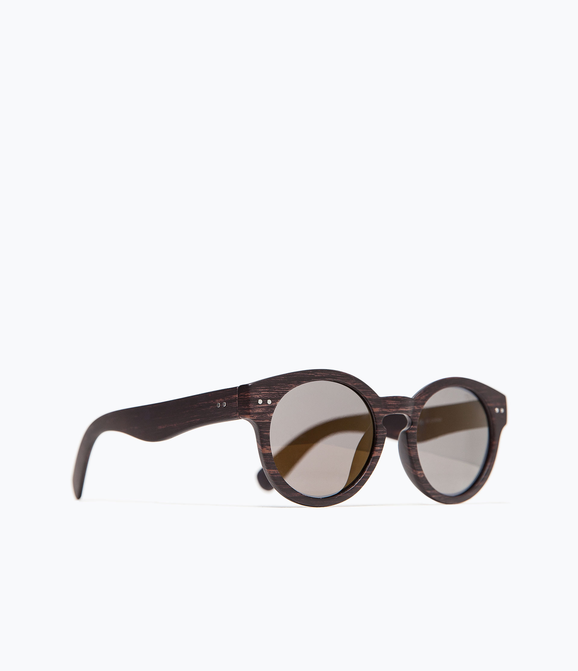 Zara Glasses Frames : Zara Round Sunglasses in Brown for Men Lyst
