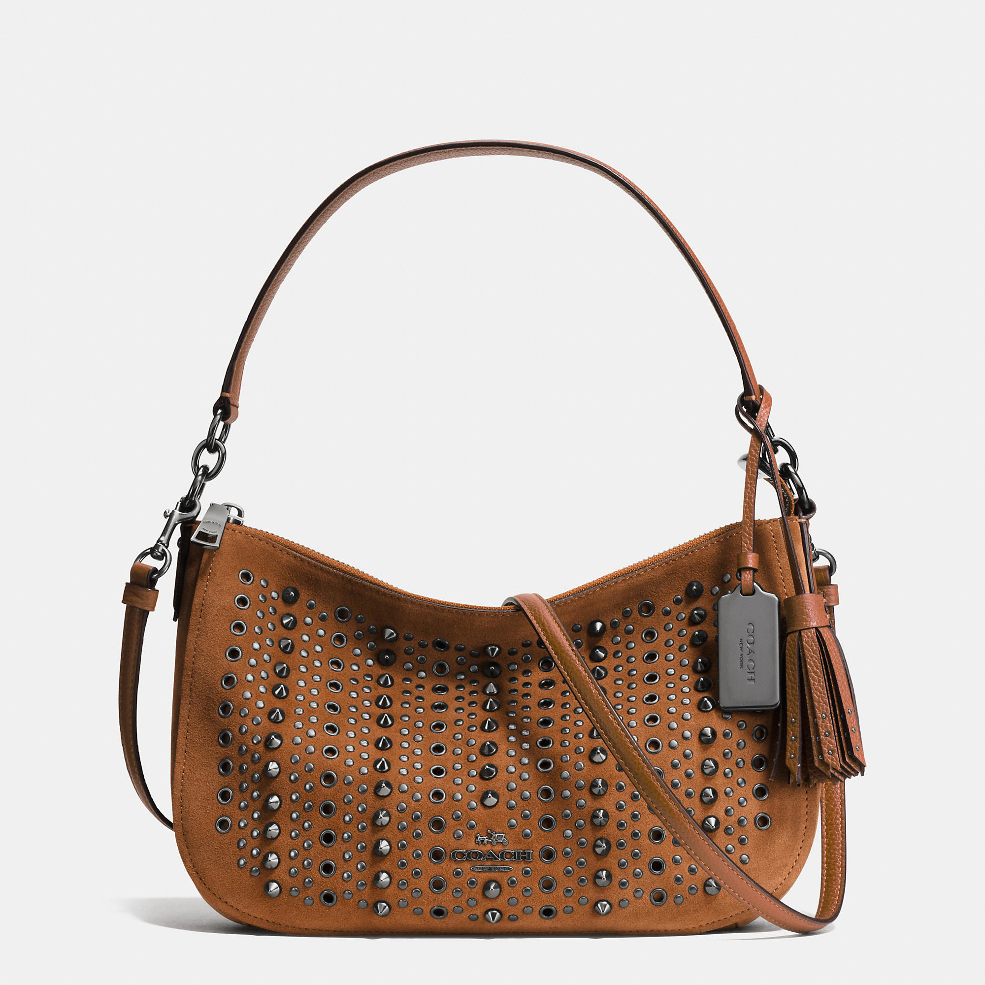 Lyst - COACH All Over Studs And Grommets Chelsea Crossbody ...