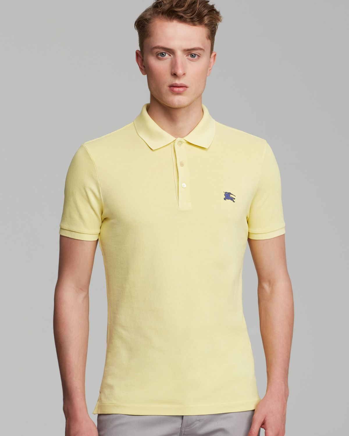 Yellow burberry polo burberry pants mens for Mens big and tall burberry shirts