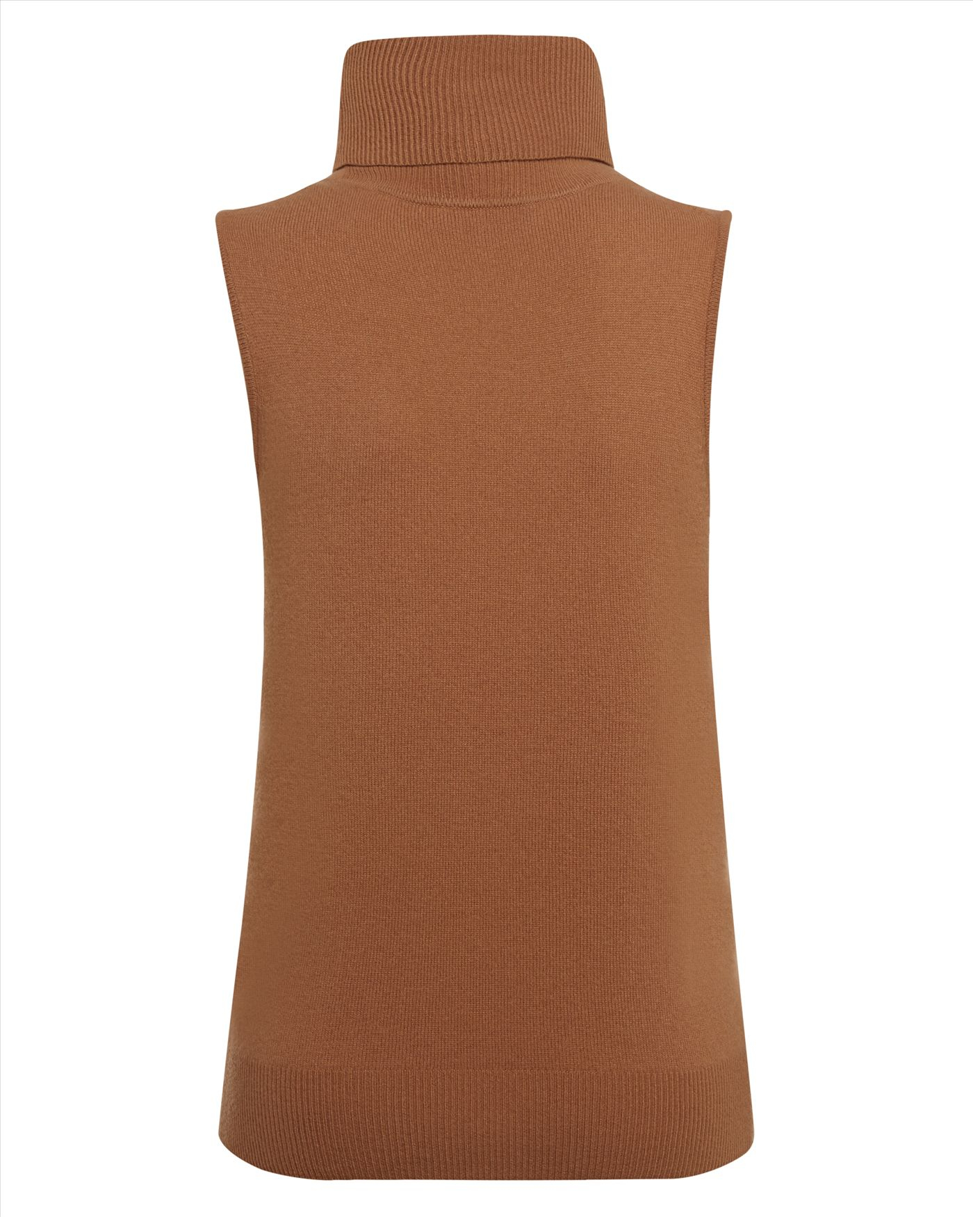 Jaeger cashmere roll neck sweater in brown lyst