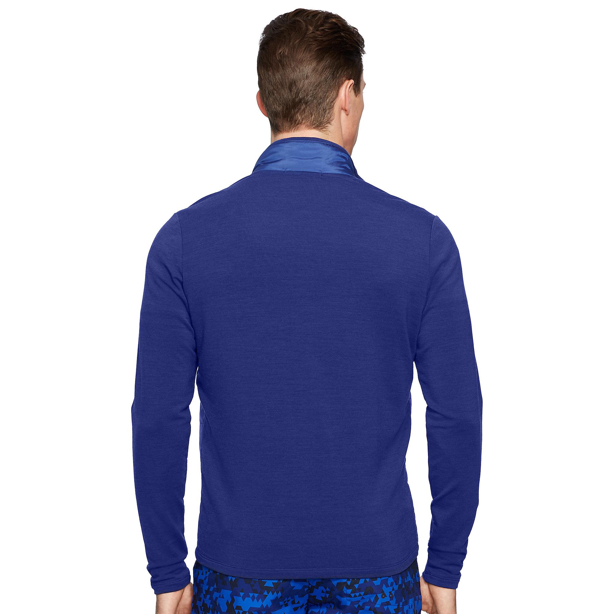 Lyst Ralph Lauren Quilted Merino Wool Jacket In Blue For Men