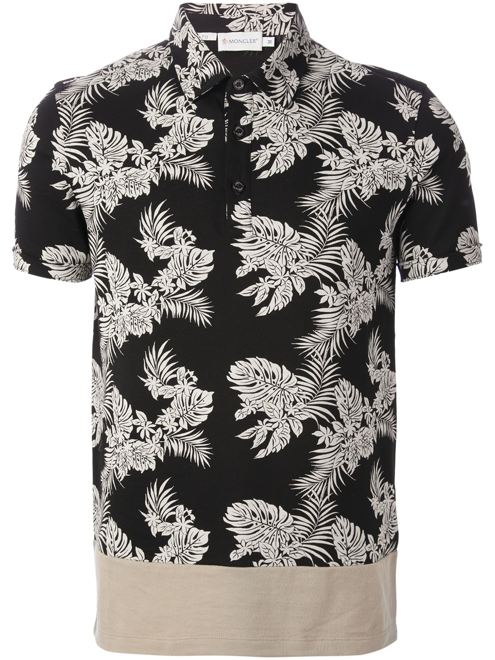 Lyst Moncler Floral Polo Shirt In Black For Men