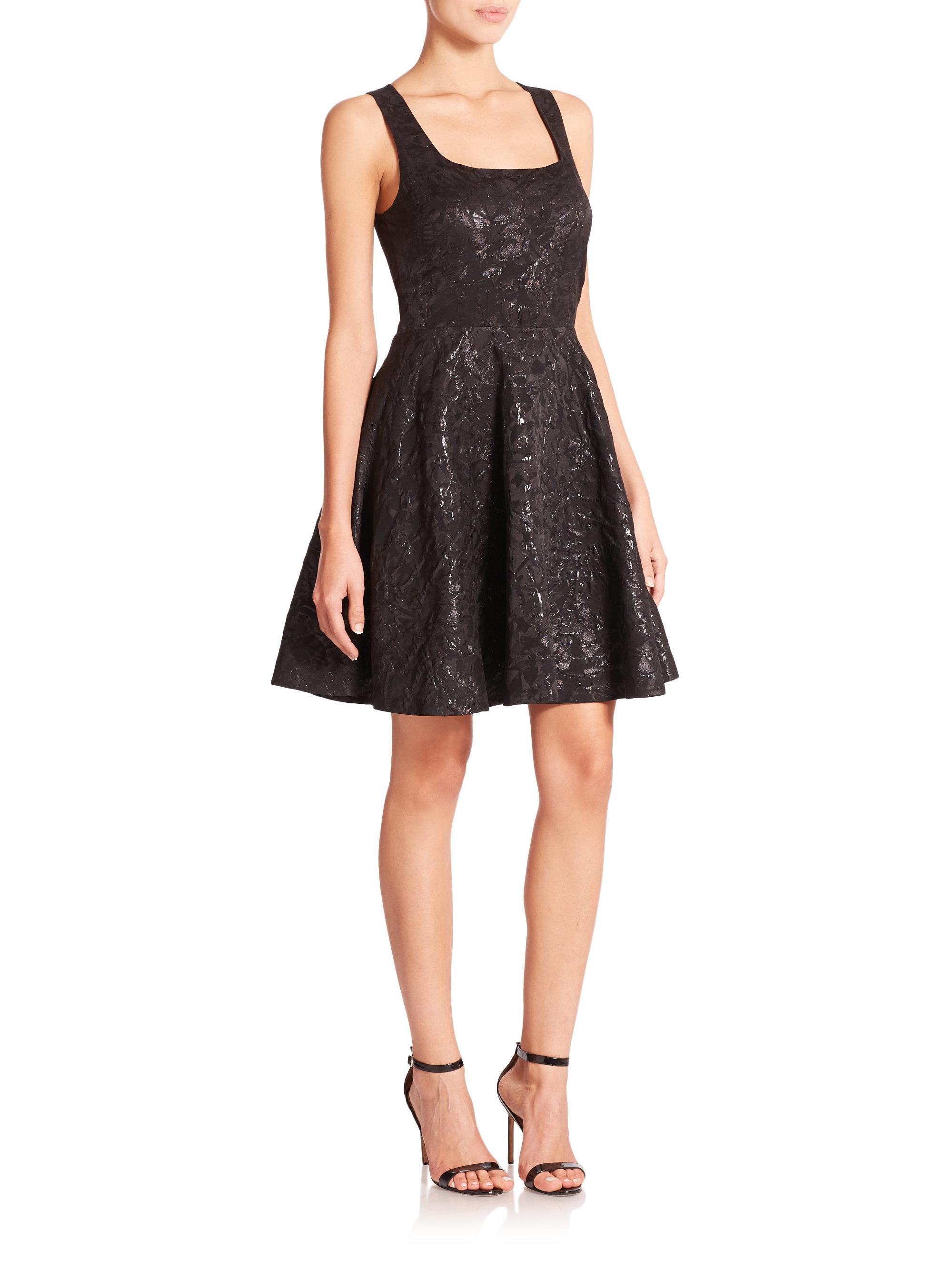 Diane Von Furstenberg Minnie Fit Amp Flare Dress In Black Lyst