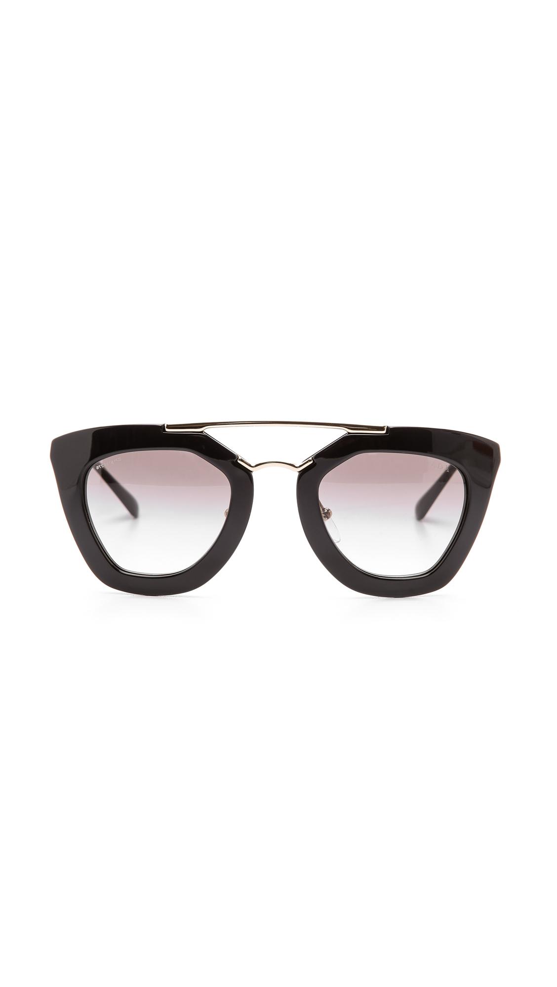 Prada Thick Frame Sunglasses in Black Lyst