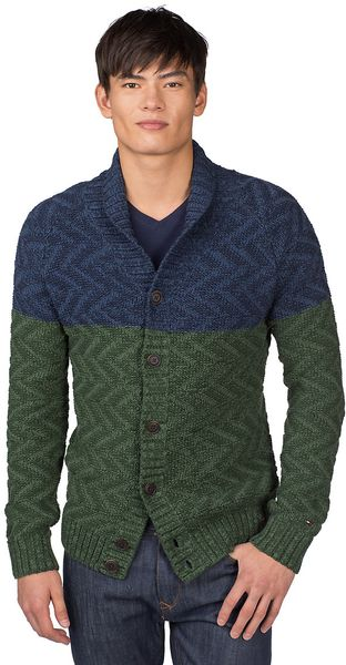 Tommy Hilfiger Emerson Button Down Cardigan in Blue for Men