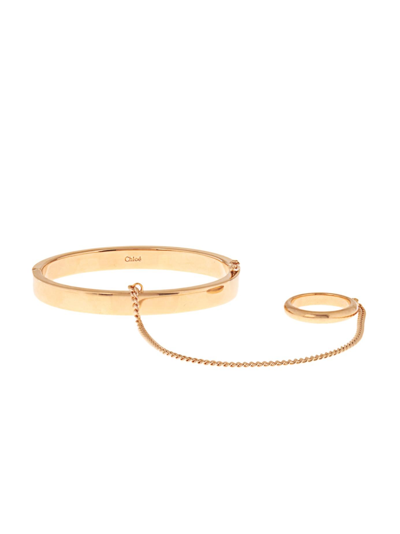 geometric bracelet cuff - Metallic Chloé 8Ae150hrW7