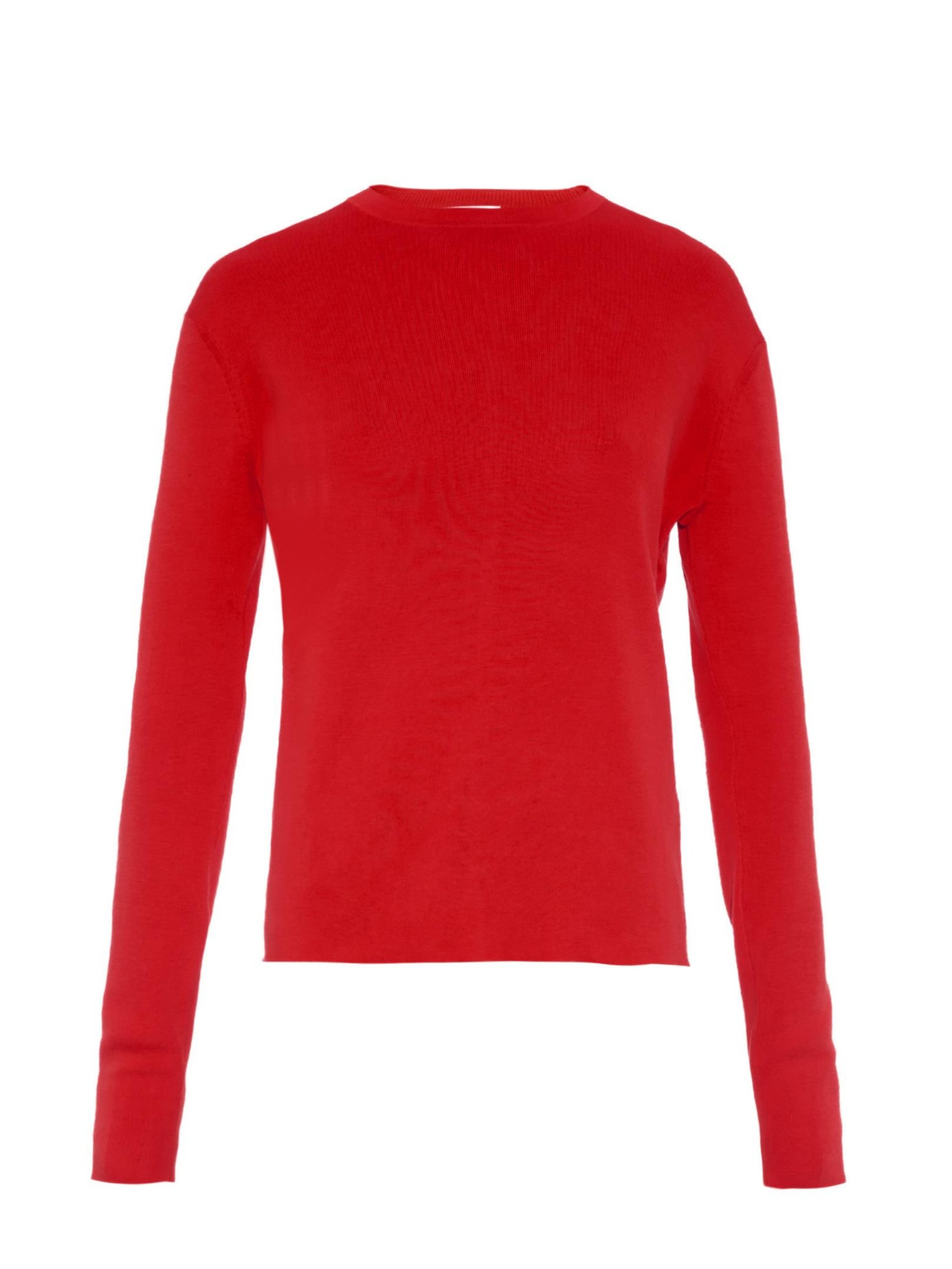 Acne studios Materia Cross-back Cotton Sweater in Red | Lyst