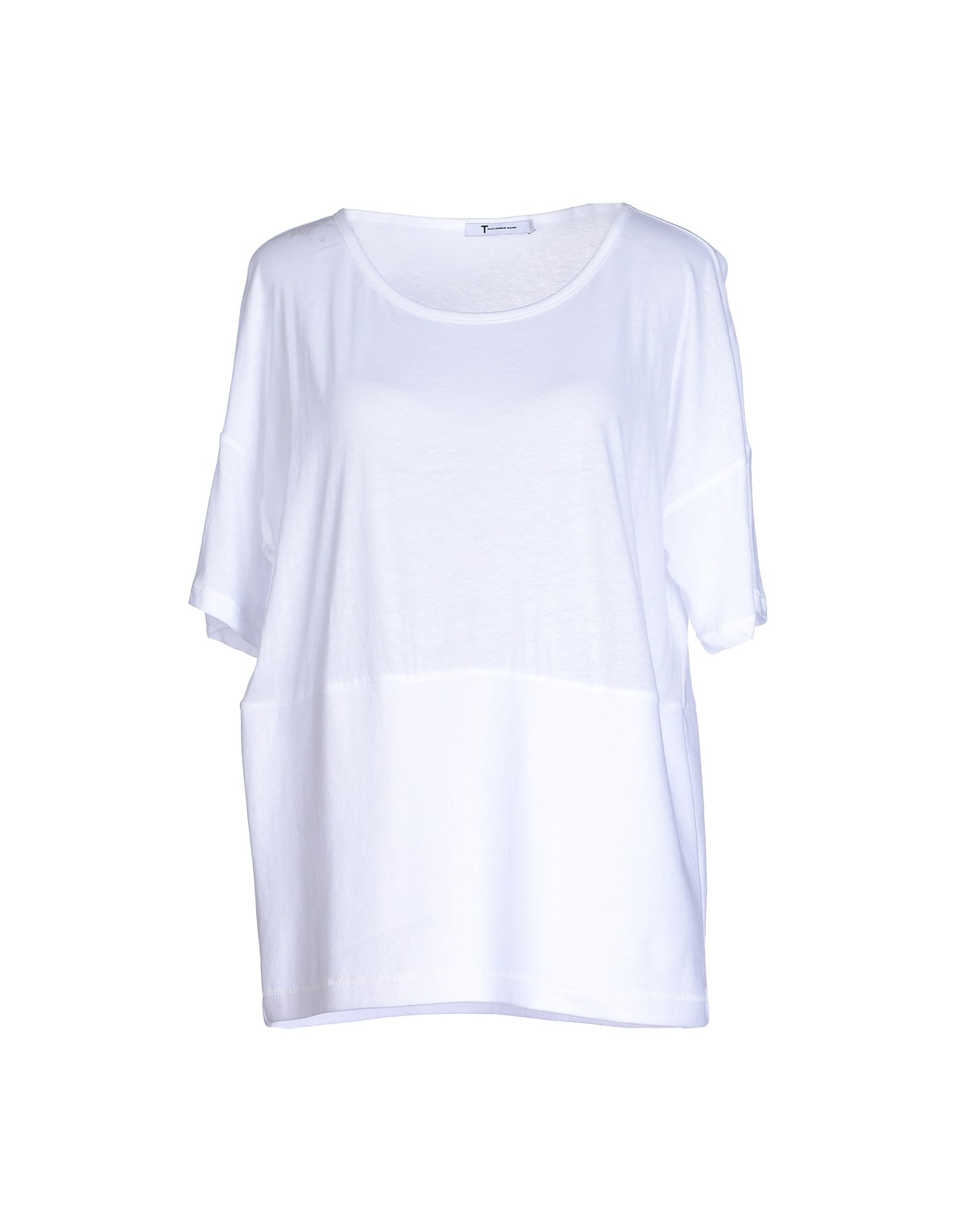 T by alexander wang t shirt in white lyst for T by alexander wang t shirt