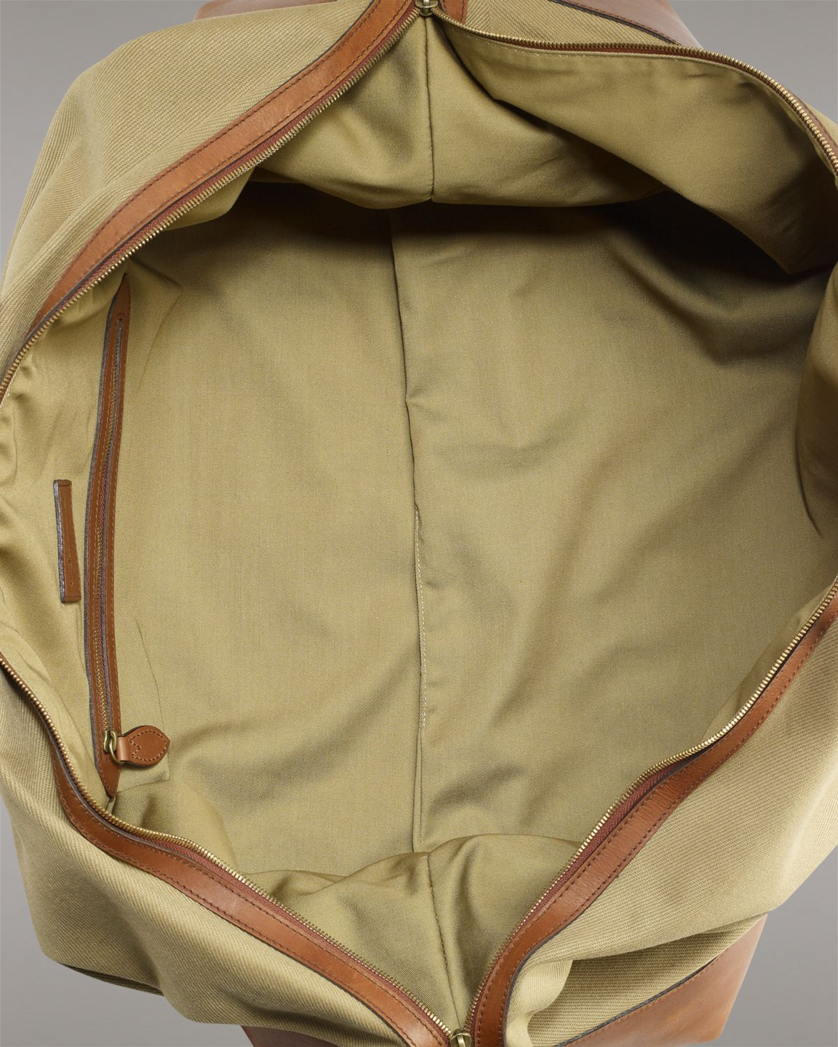 bacd870a90 ... norway lyst ralph lauren polo canvas duffle bag in natural for men  4390d 8b0e4