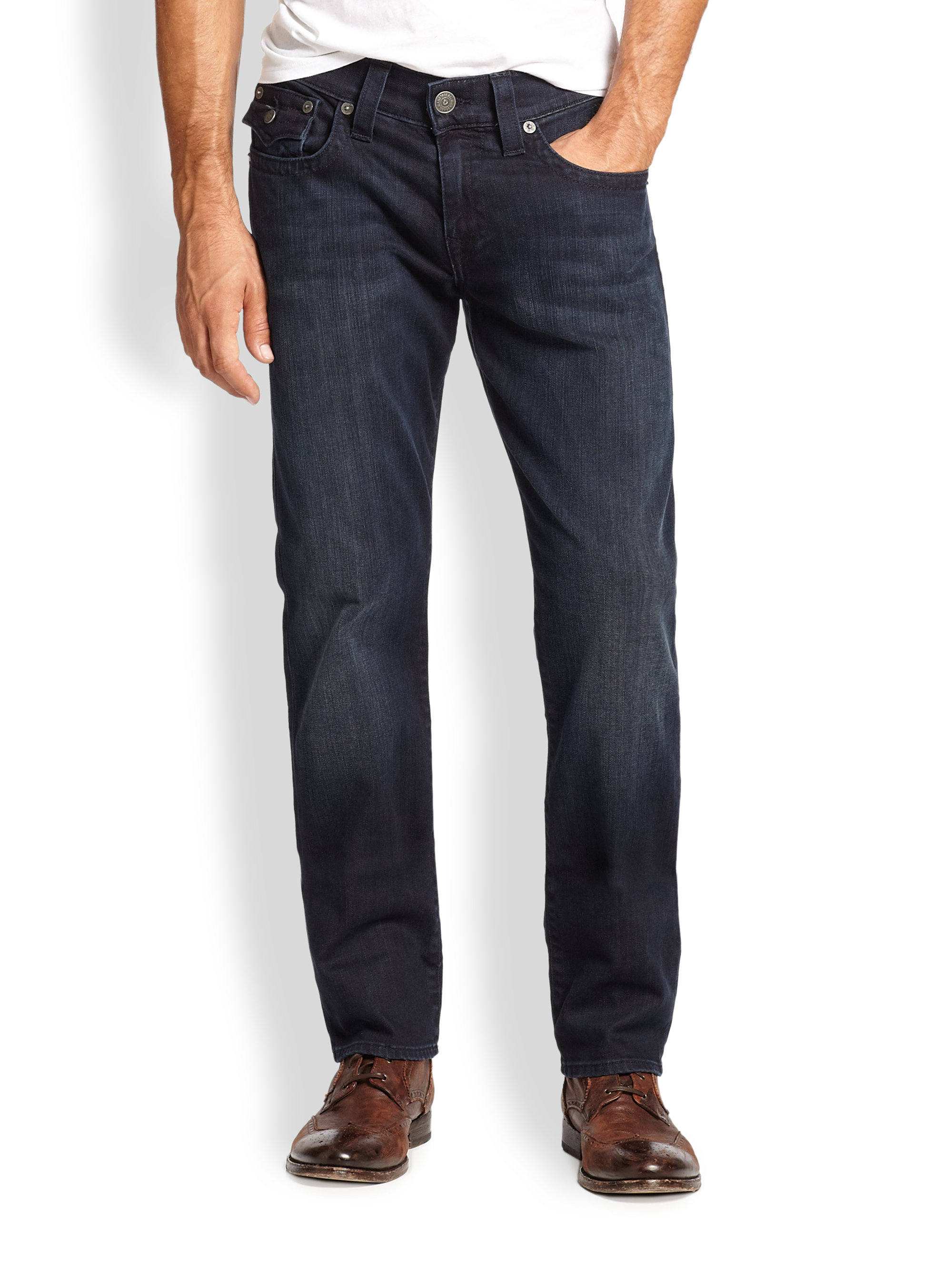 Lyst True Religion Geno Slim Straight Leg Jeans In Blue