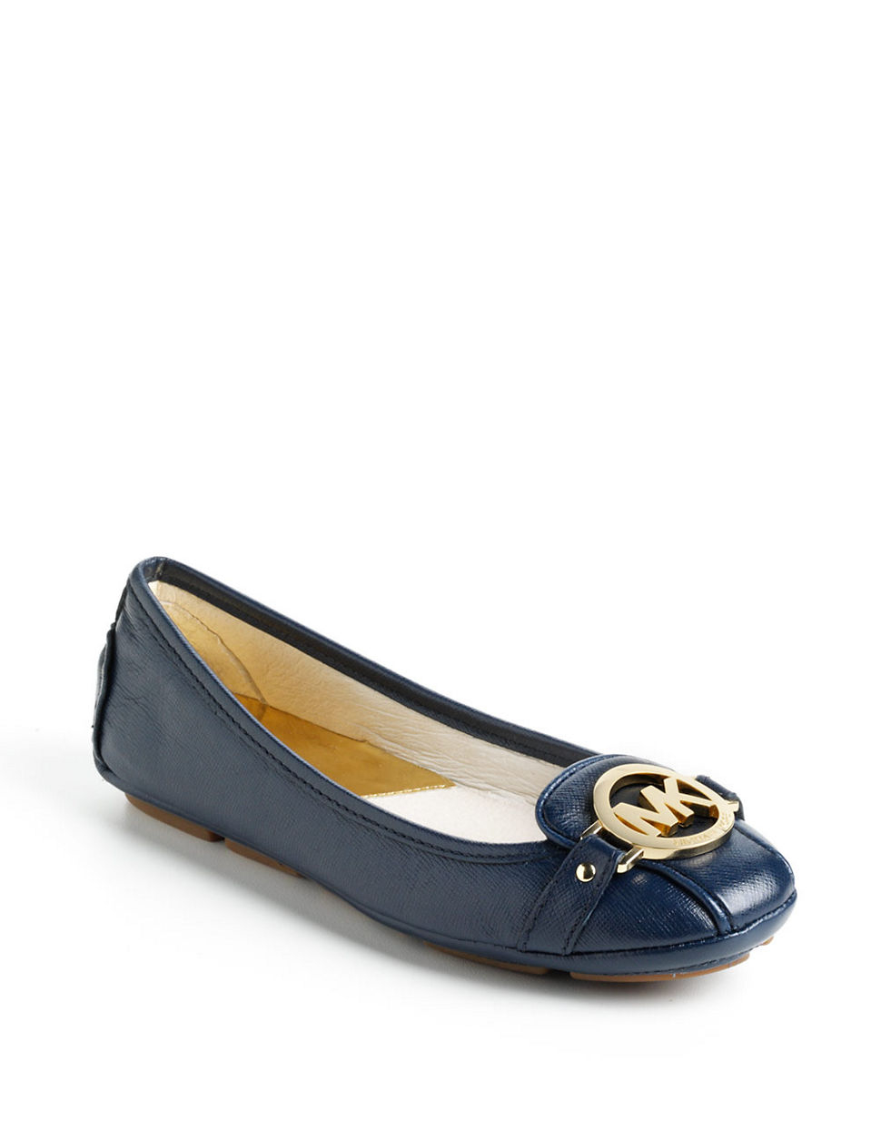 Michael Michael Kors Fulton Leather Moccasins in Blue ...