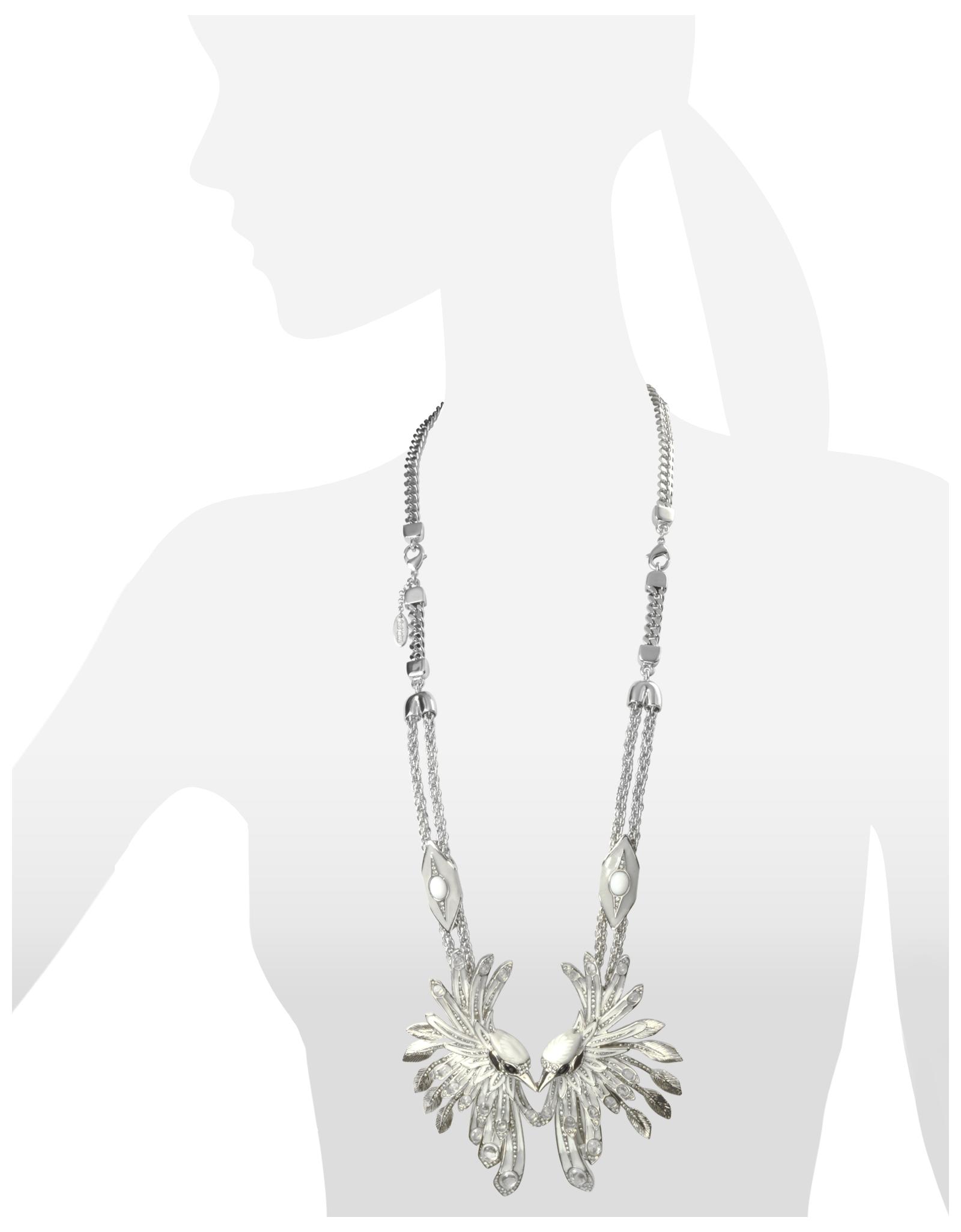 Roberto Cavalli Aella Necklace in Silver InODw