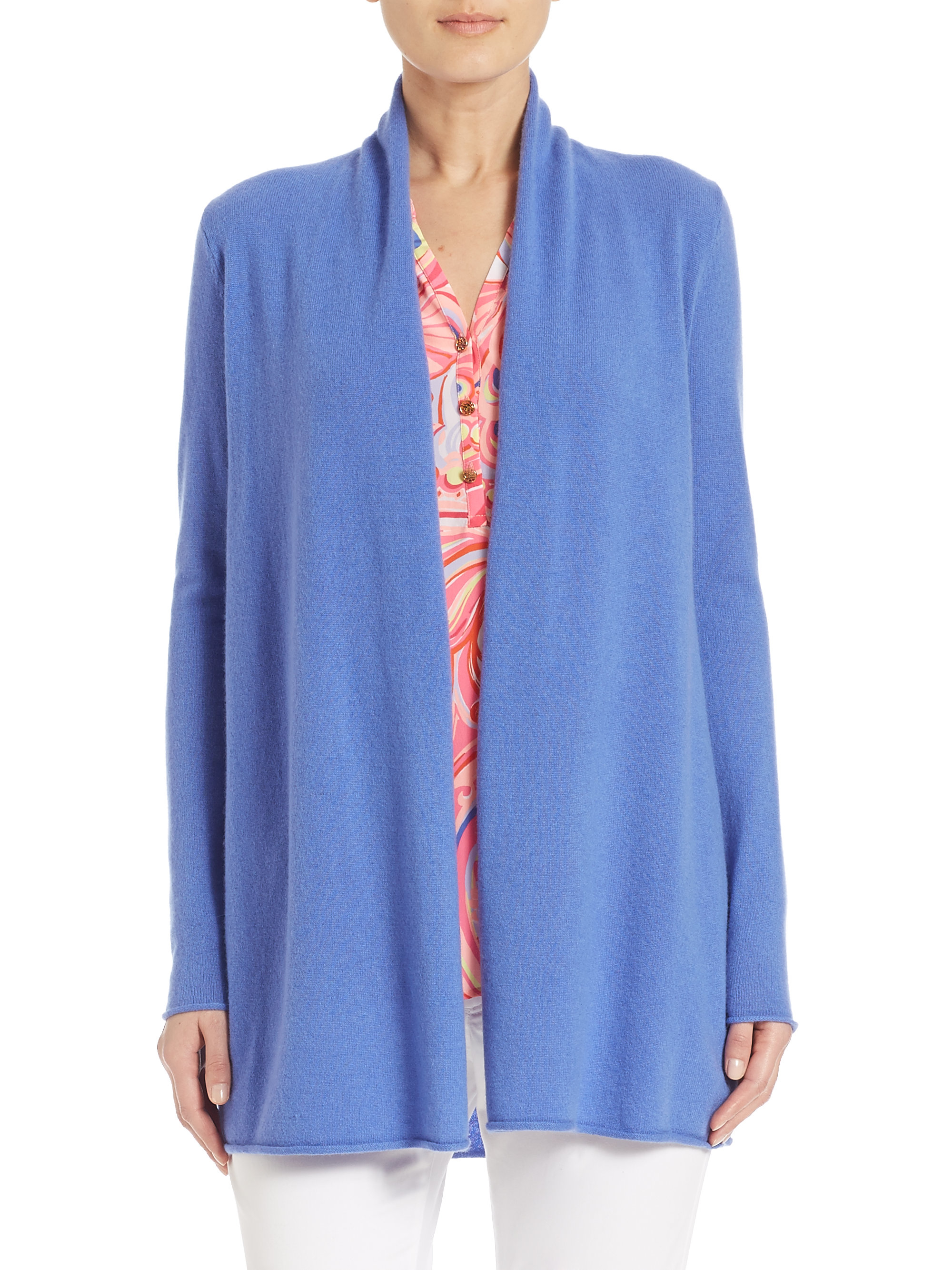 Lilly pulitzer Wells Cashmere Cardigan in Blue | Lyst