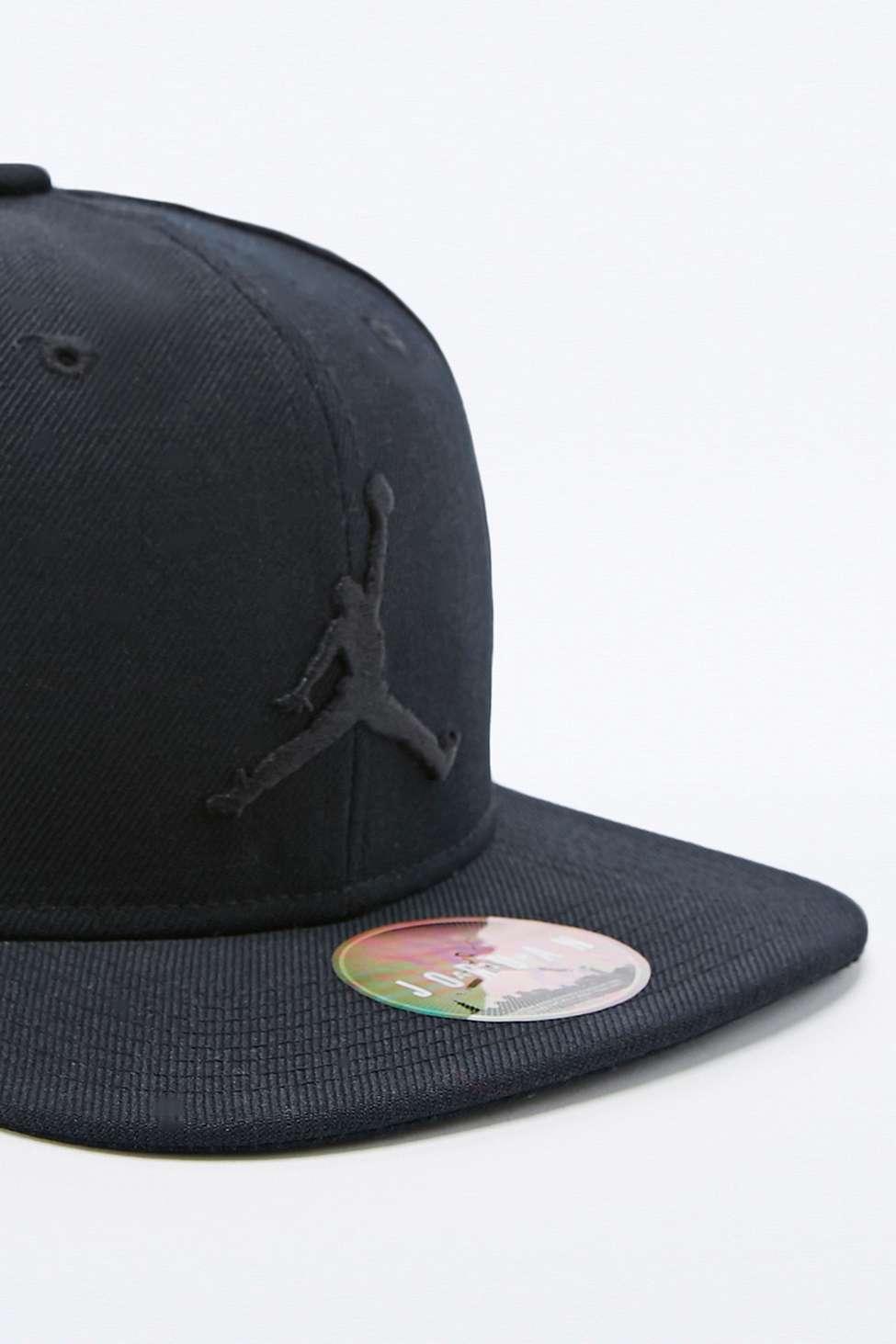 7357aad4694 ... 861452 013 mens ladys e243f 36dab  order nike jordan jumpman snapback  cap in black in black for men lyst a5869 b6cb7